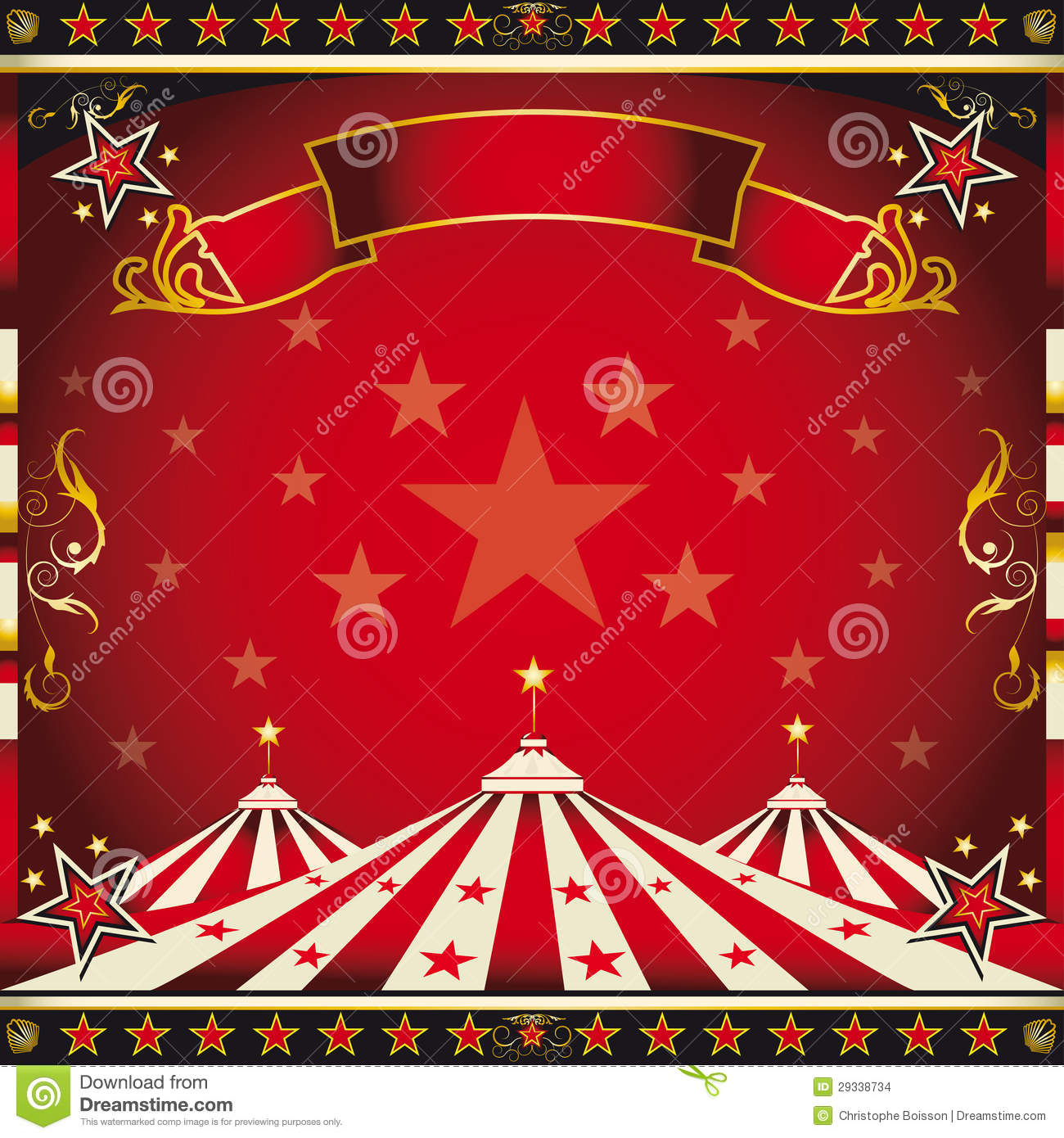 Square Red Vintage Circus Stock Images Image 29338734
