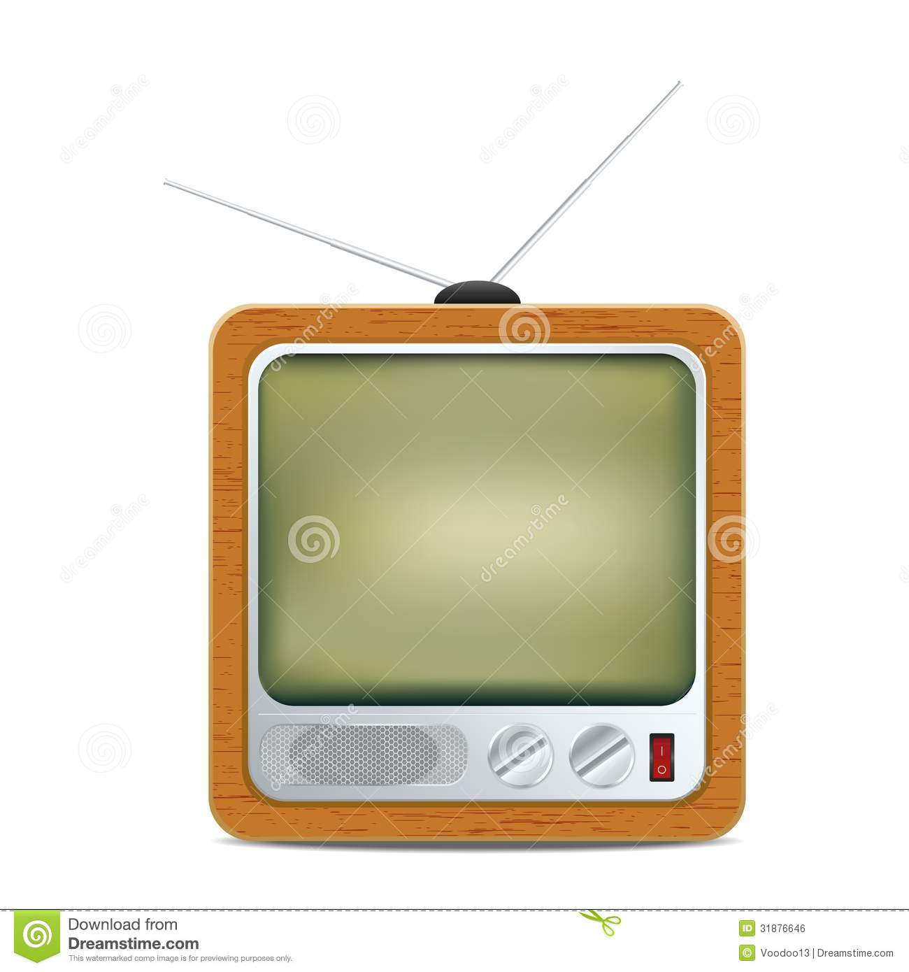 Royalty Free Stock Image: Square retro TV icon. Image ...