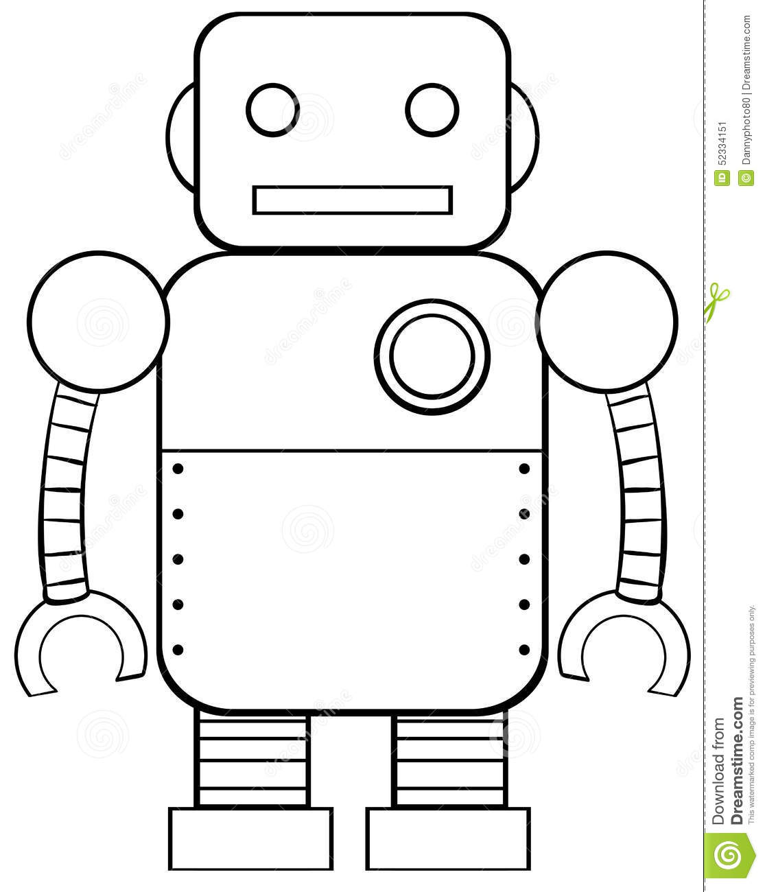 Square Robot Stock Vector. Illustration Of Background