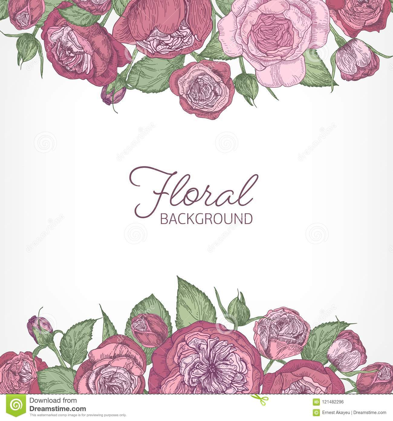 Square Romantic Floral Backdrop Decorated With Gorgeous Pink Austin