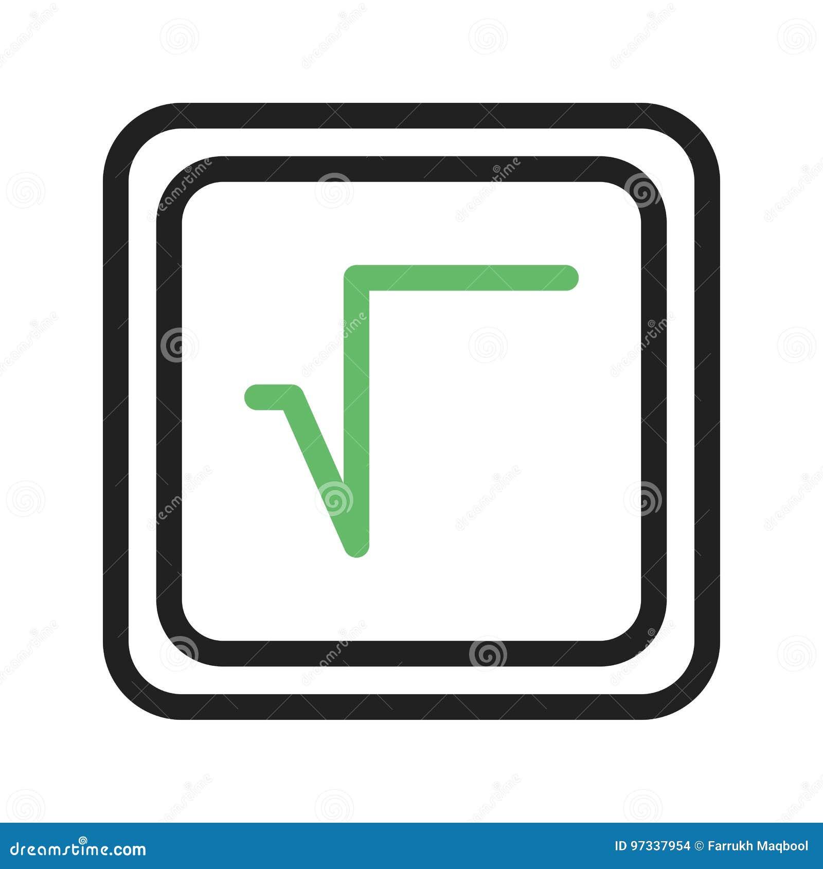 Square Root Symbol Stock Illustration Illustration Of Maths 97337954