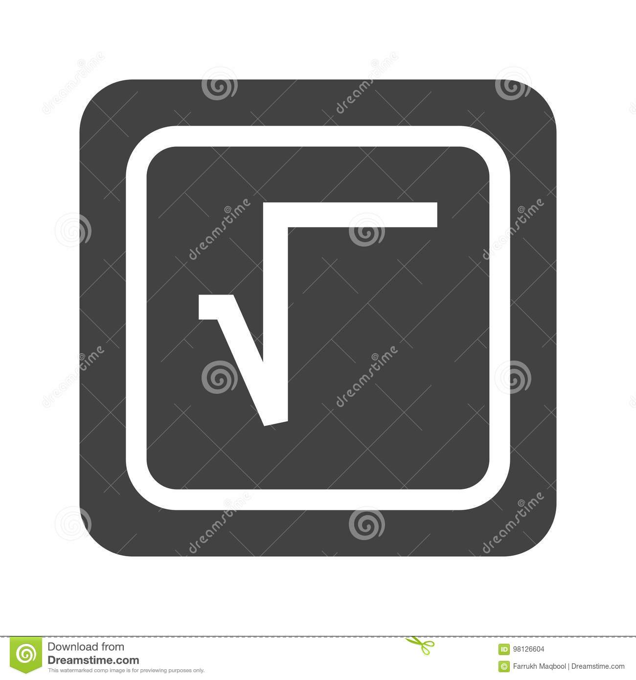 Square Root Symbol Stock Vector Illustration Of Radical 98126604