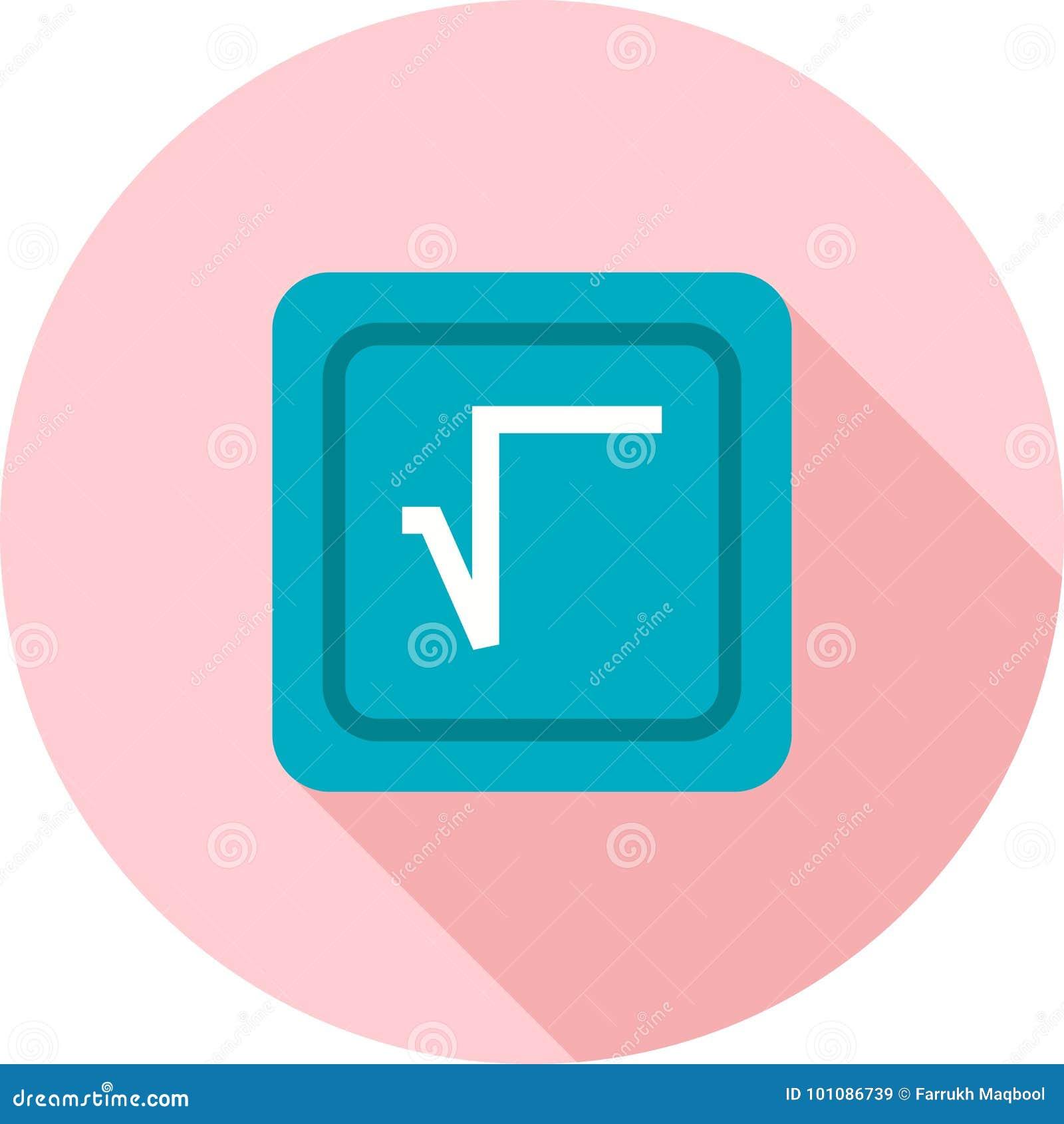 Square Root Symbol Stock Vector Illustration Of Mathematics 101086739