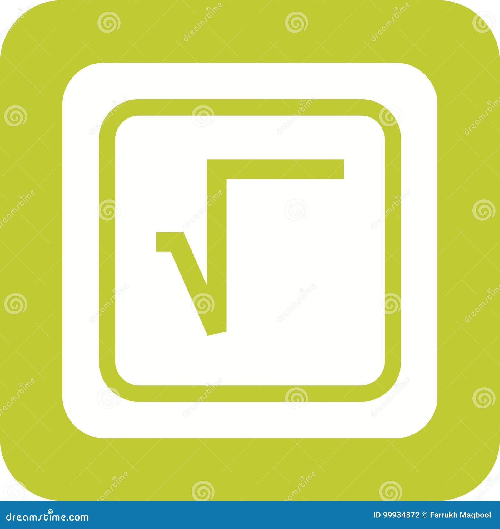 Square Root Symbol Stock Vector Illustration Of Algebra 99934872