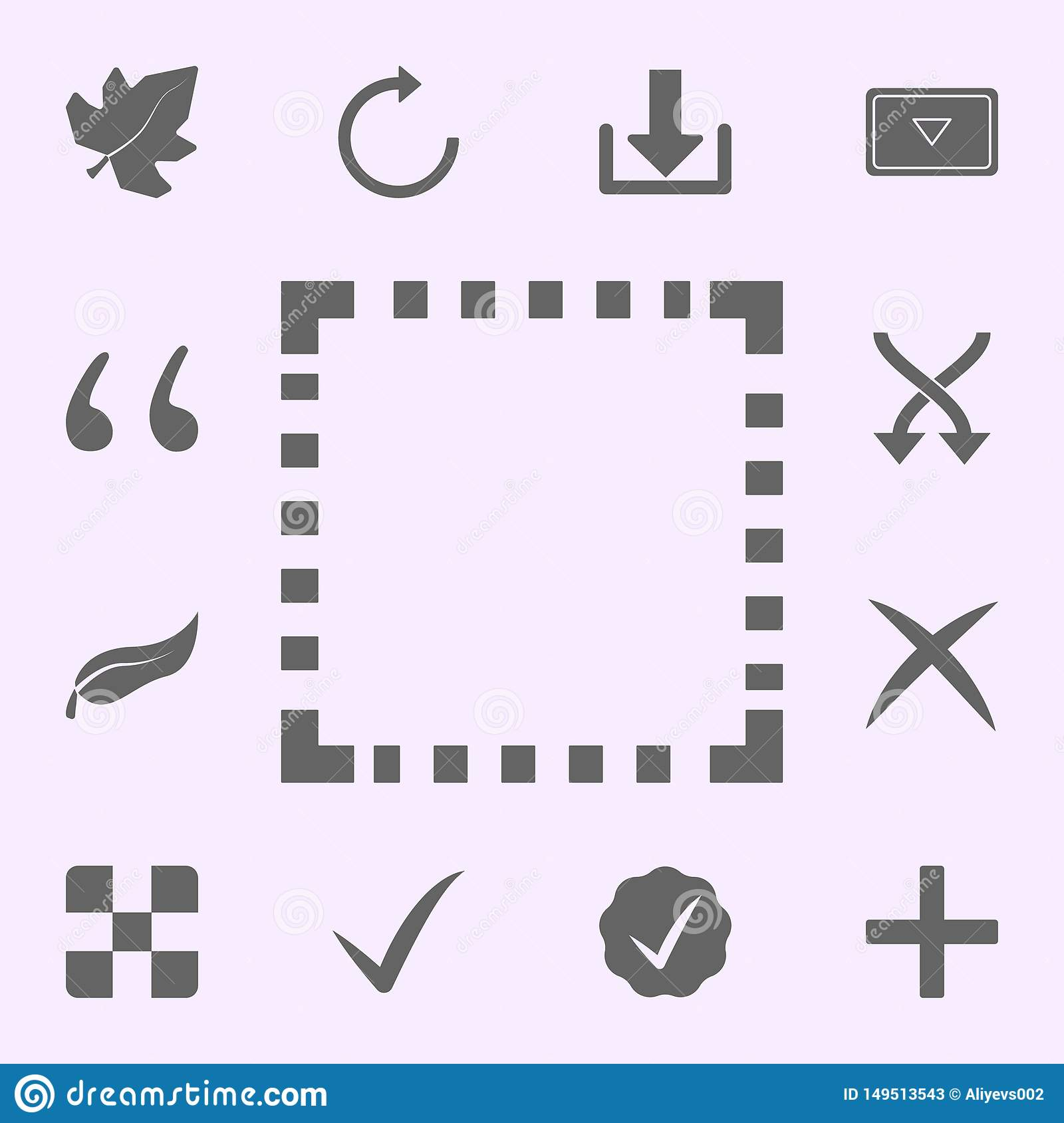 Square Icons Stock Illustrations – 49,876 Square Icons Stock