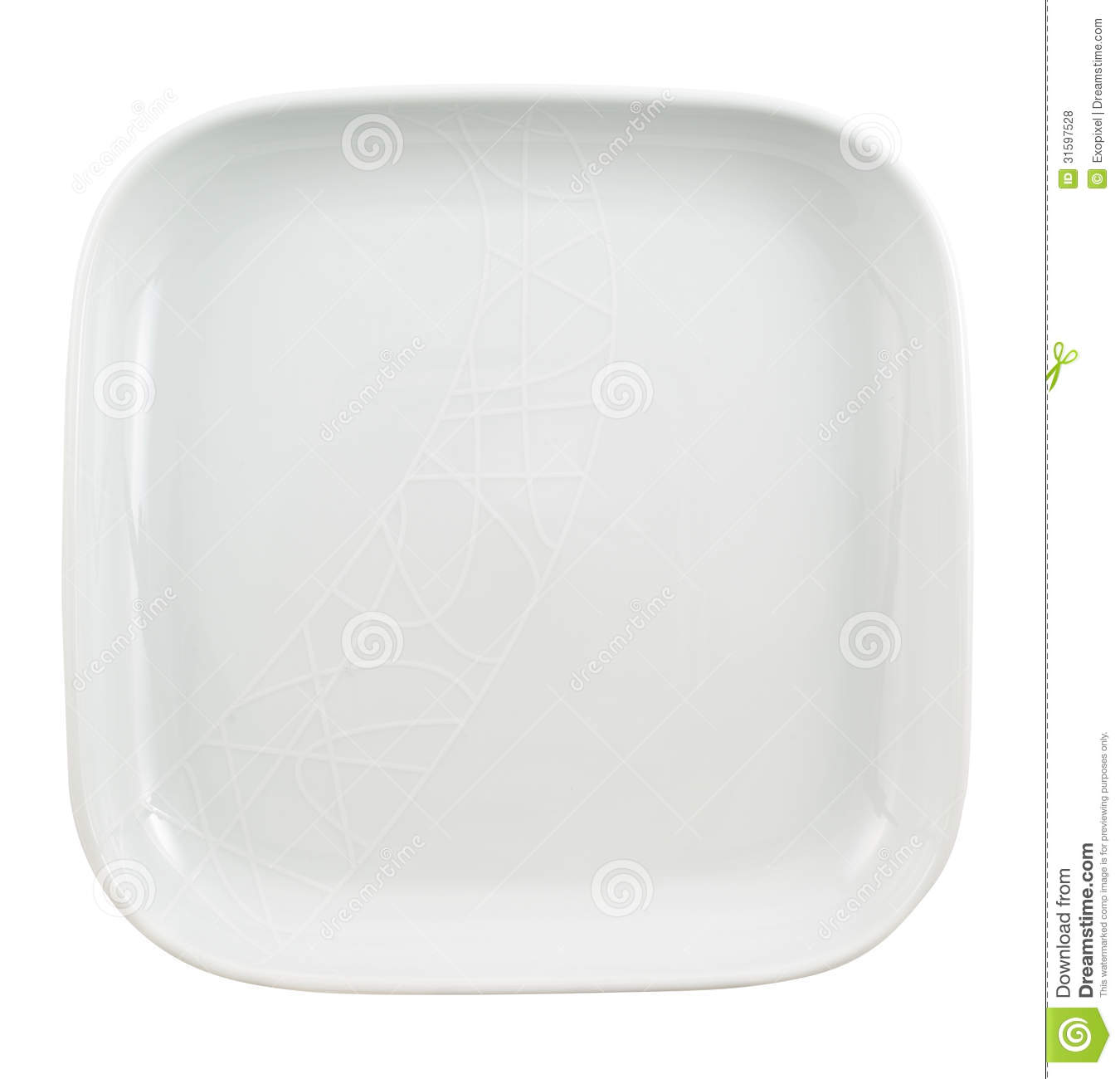 Square Shaped Empty Ceramic Plate Royalty Free Stock