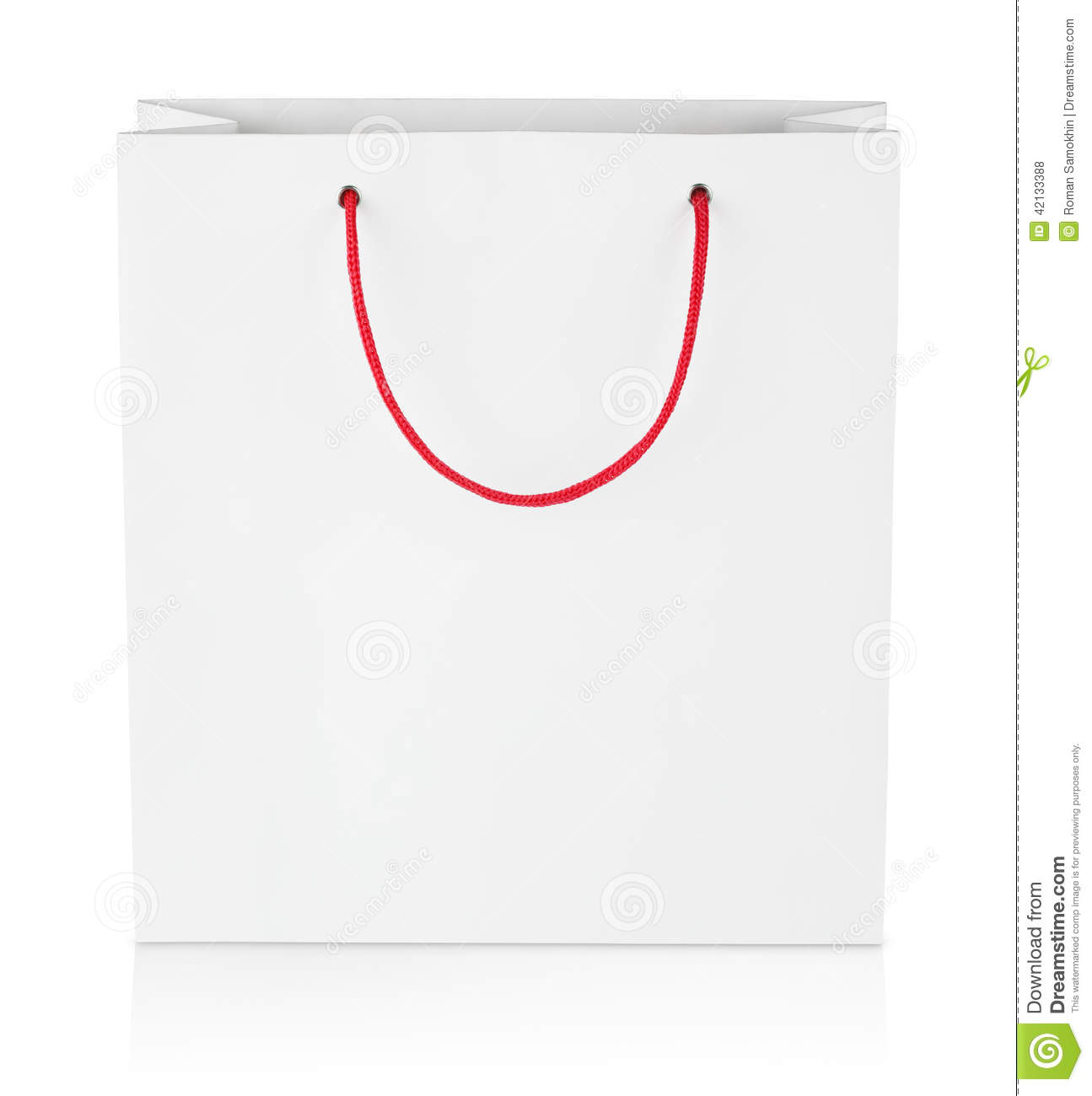 Square Shopping Bag On White Stock Photo - Image: 42133388