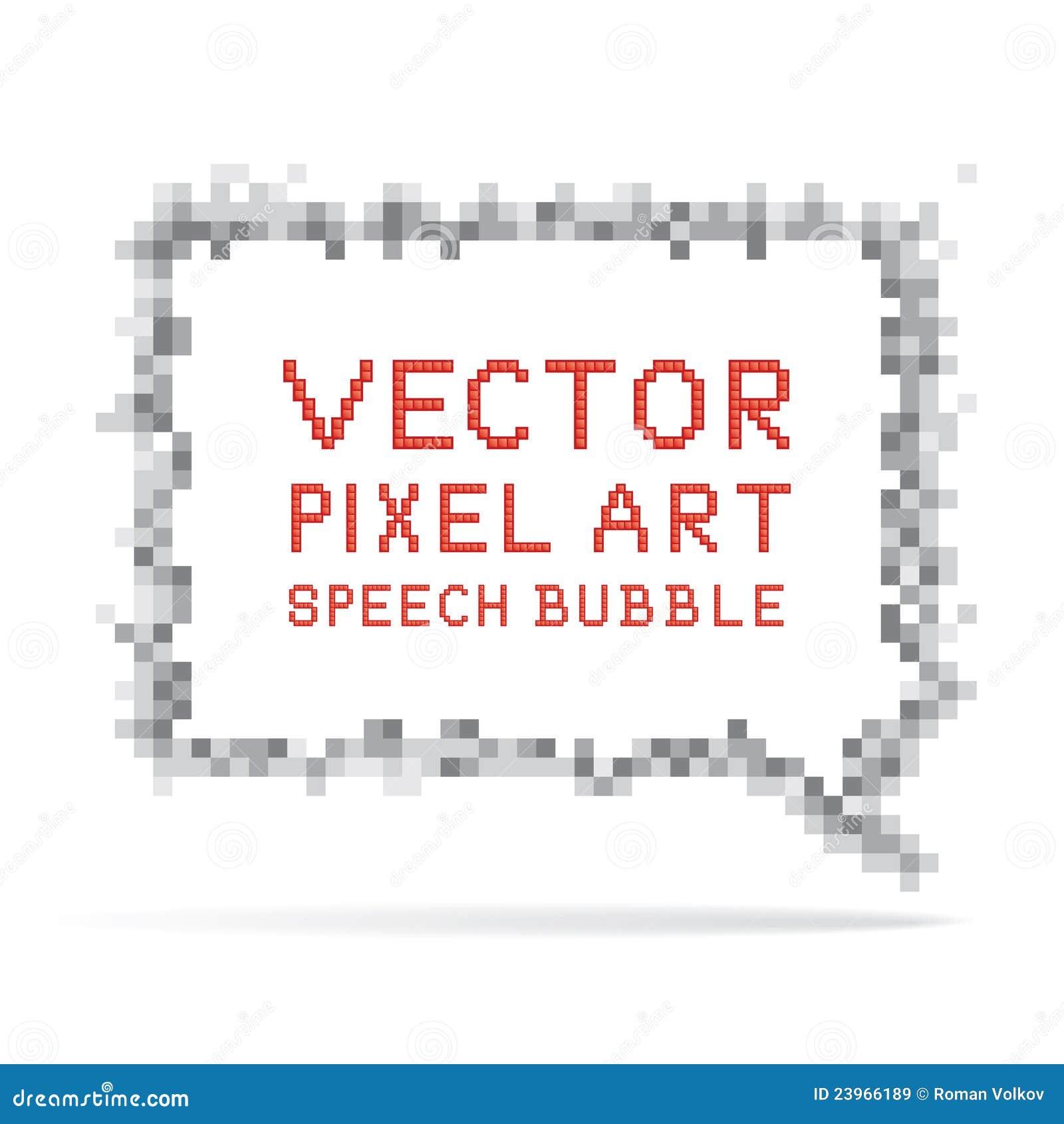 Square Speech Bubble In Pixel Art Style Royalty Free Stock