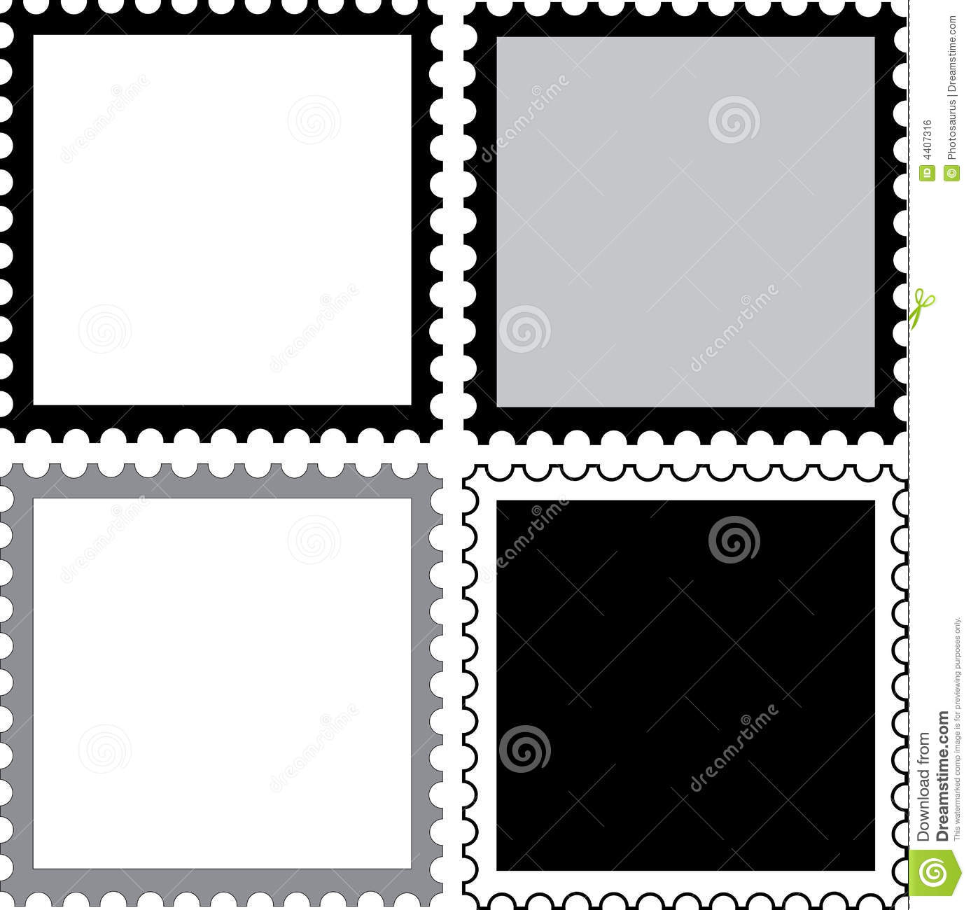 Square Stamps To Fill Royalty Free Stock Image - Image: 4407316
