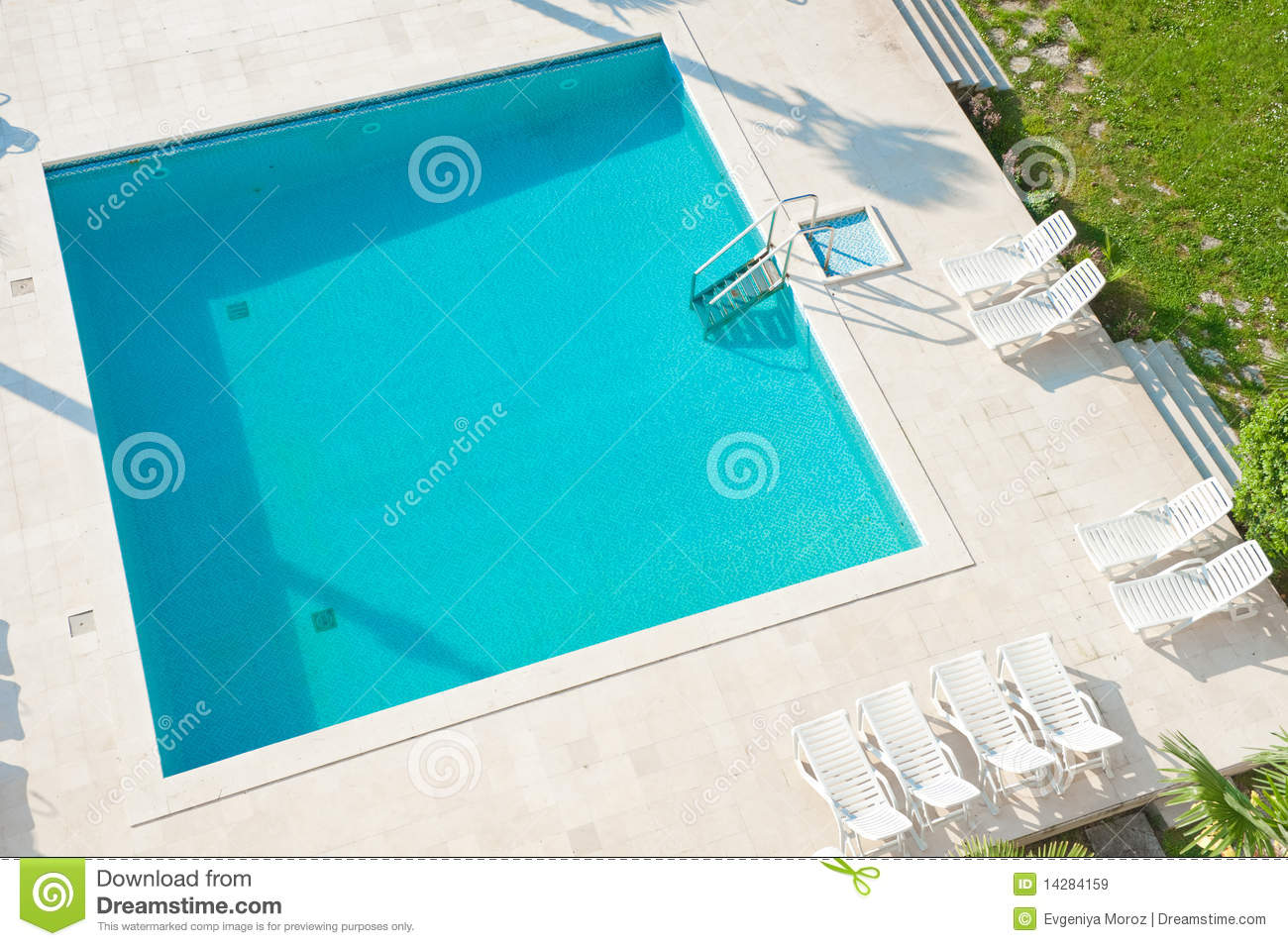 Square swimming pool. stock image. Image of bright ...