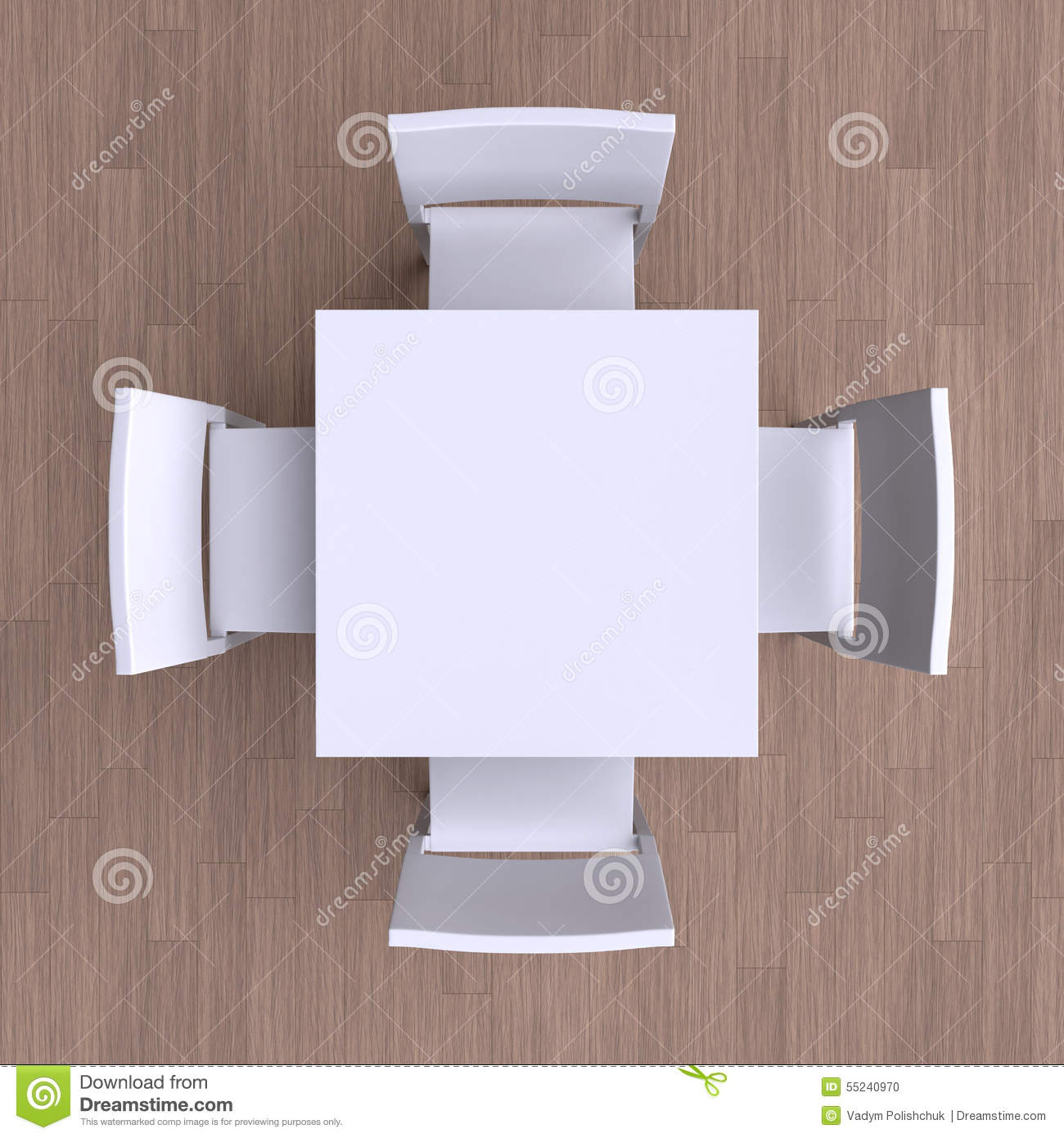 square table top view. Square Table With Four Chairs. Top View R