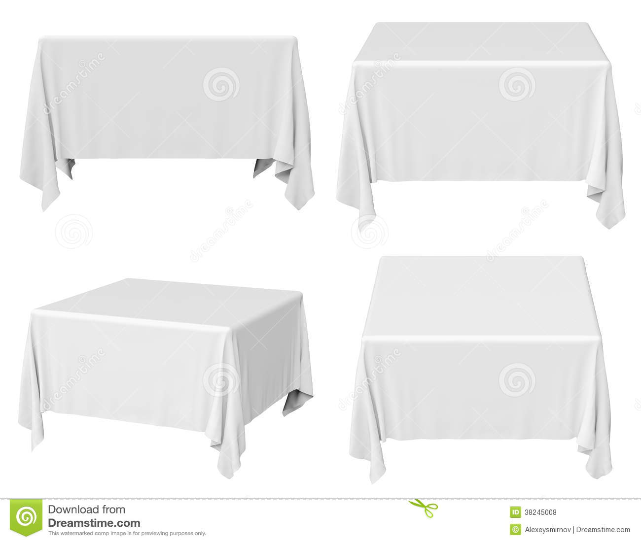 Square Tablecloth Set Royalty Free Stock Photos Image 38245008