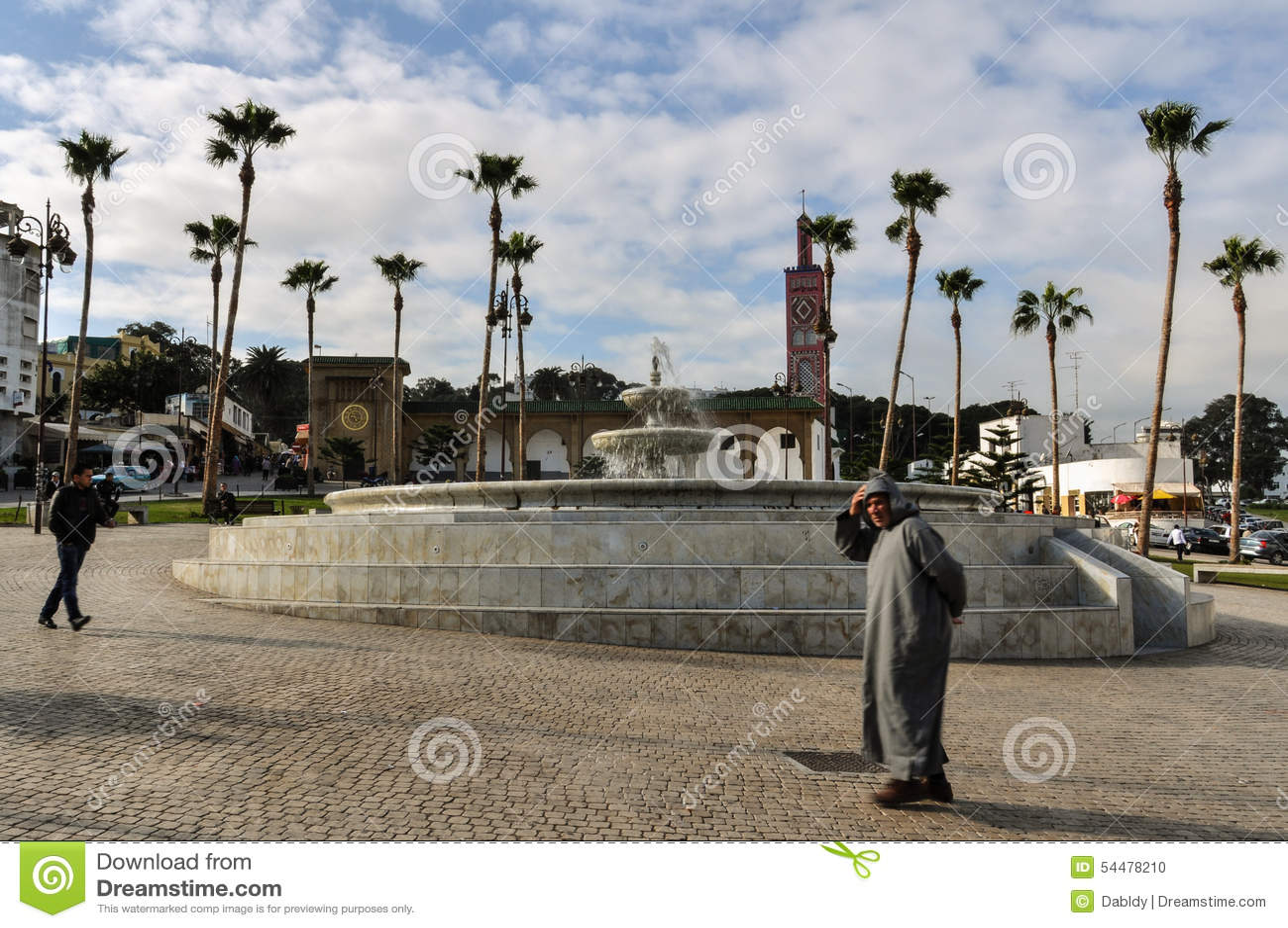 Square in Tangier City, Morocco