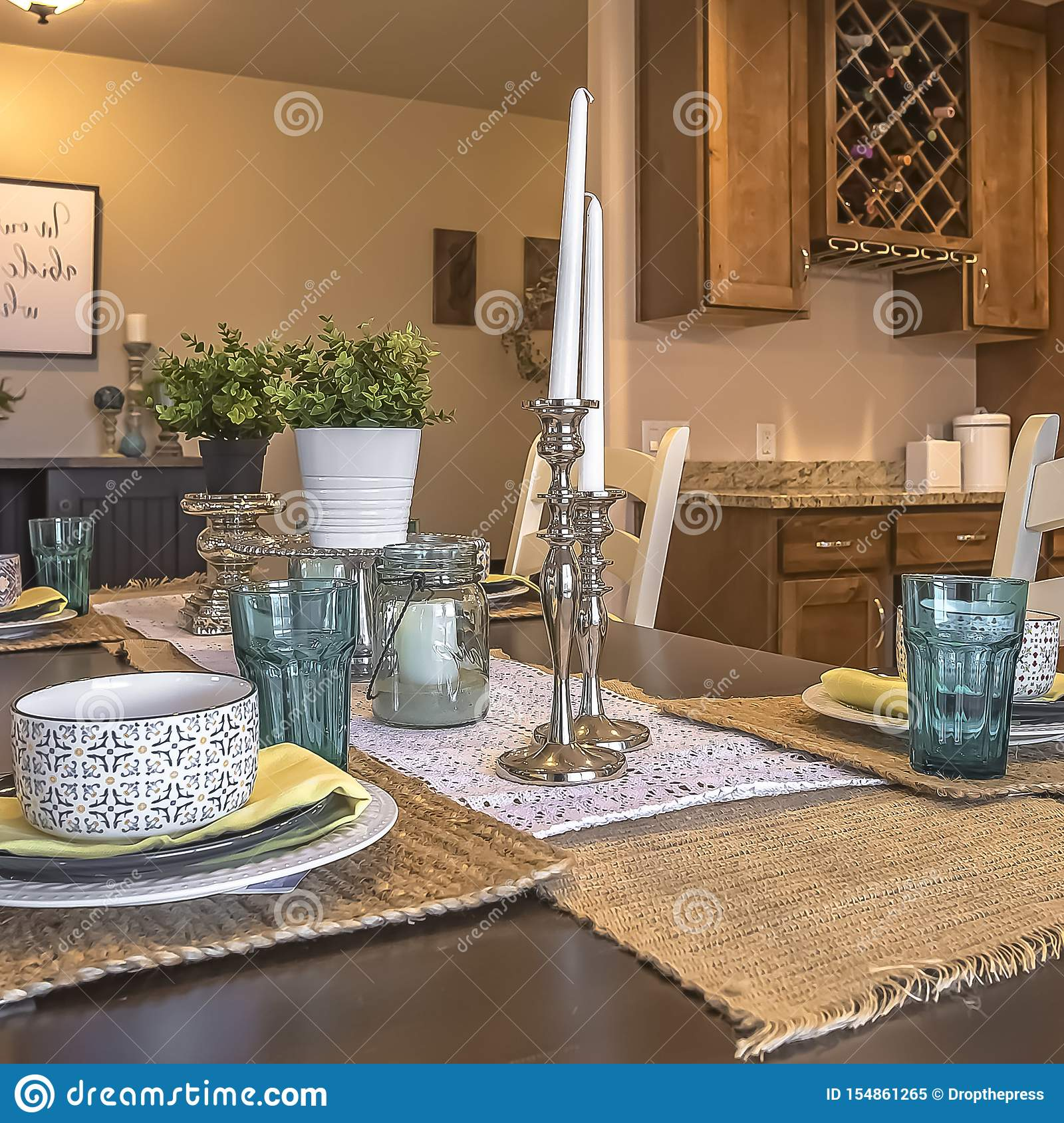 Swell Square White Chairs Around A Brown Dining Table With Hemp Lamtechconsult Wood Chair Design Ideas Lamtechconsultcom