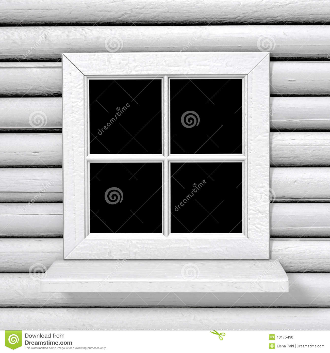 Square White Country Style Window Stock Photo Image