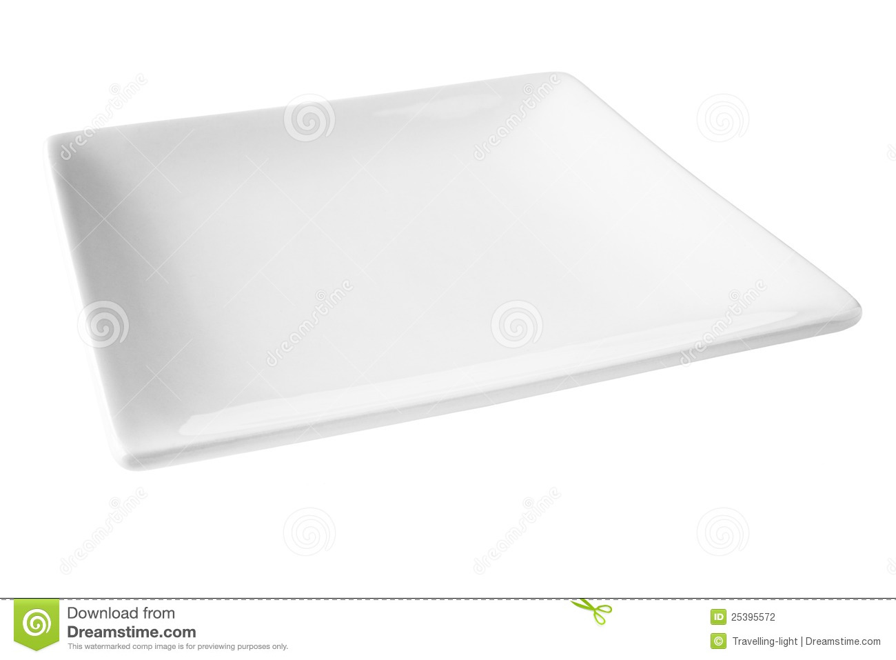 Royalty-Free Stock Photo  sc 1 st  Dreamstime.com & Square White Plate Isolated On White Stock Photo - Image of nobody ...