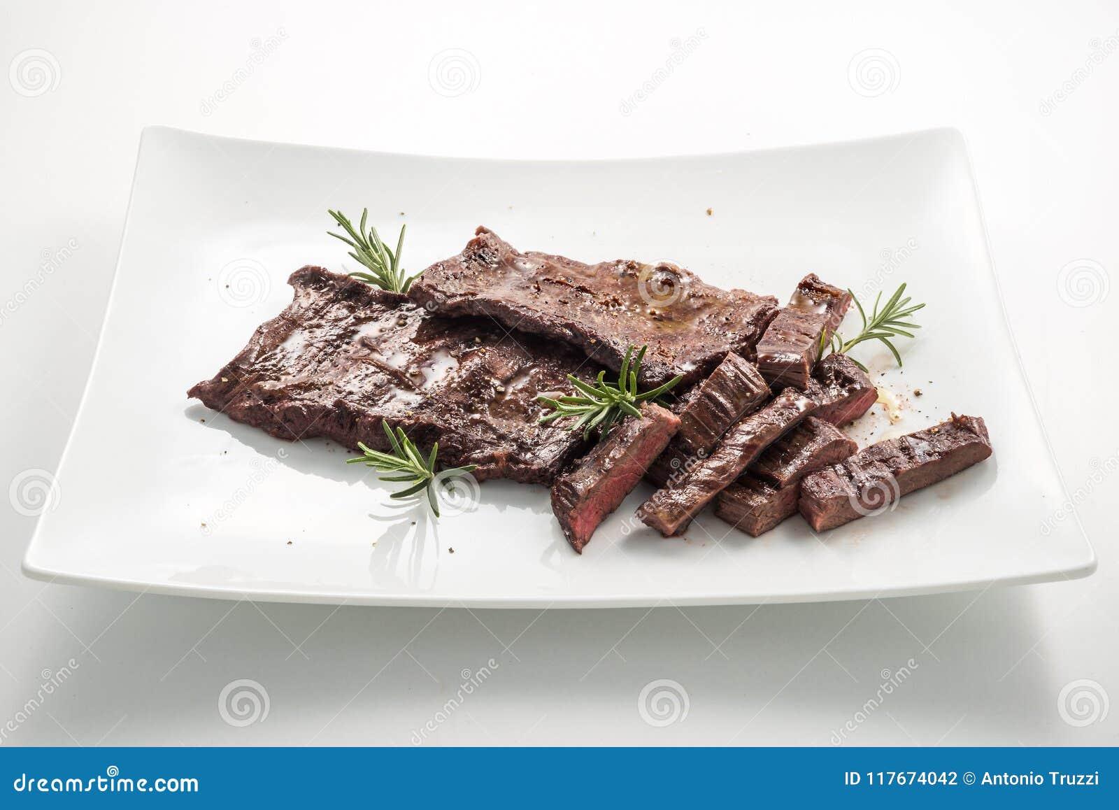 Meat Dish Skirt Steak Stock Photo Image Of Dish Flank 117674042