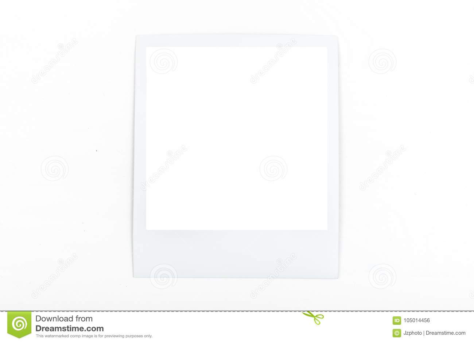 Square, White Polaroid Mockup Frame On White Background Stock Photo ...