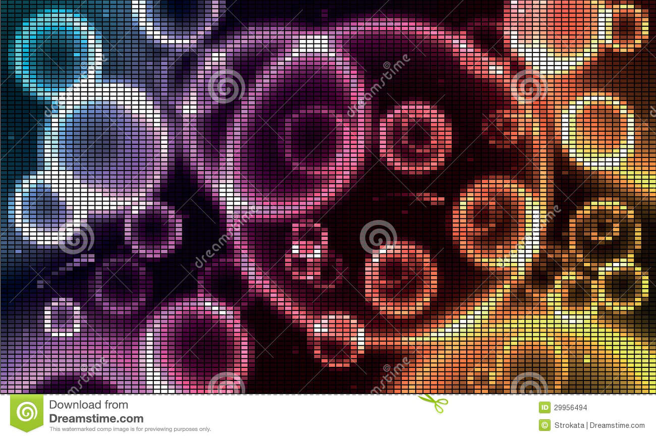 Cosmic Background With Circles, Stars, Comets, Ast Stock ...