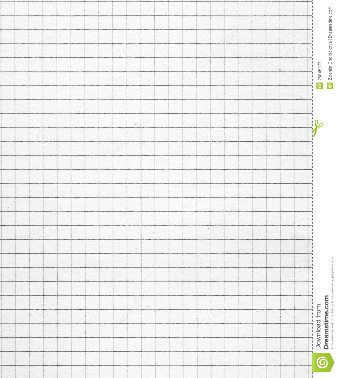 Squared White Paper Royalty Free Stock Photography Image