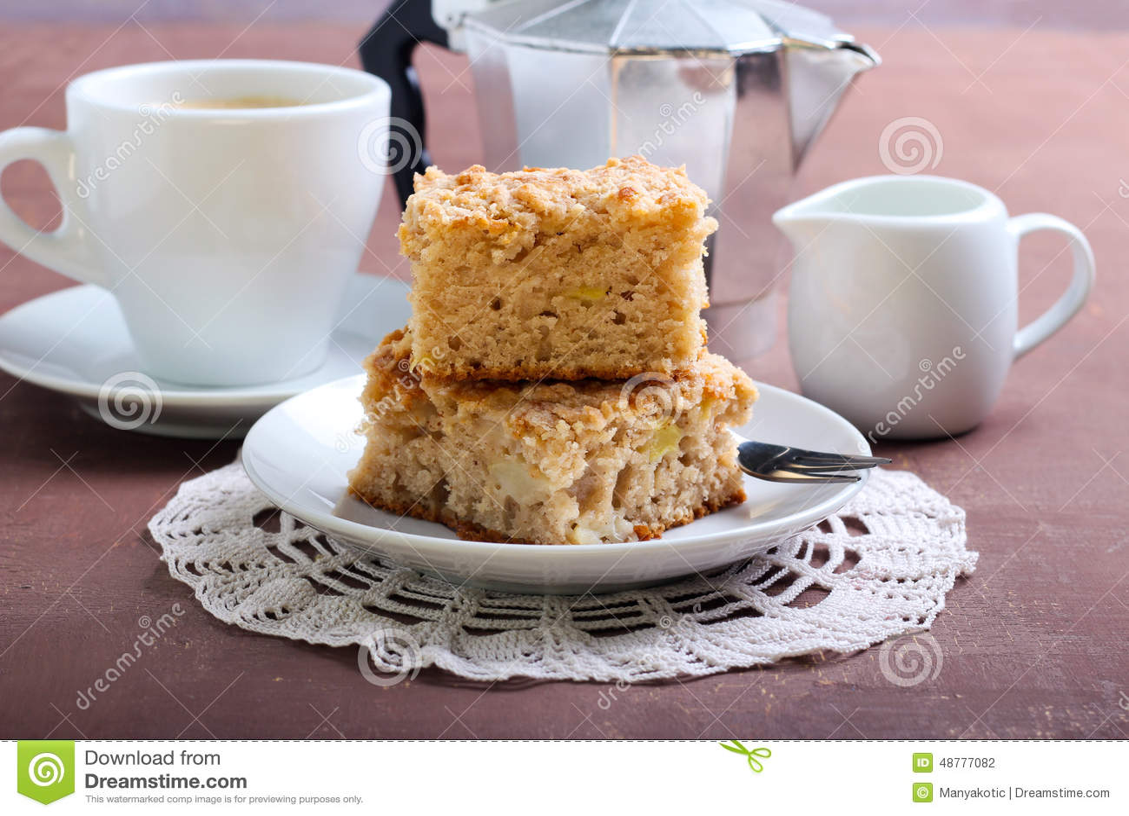 Raw Apple Cake Made With Coffee