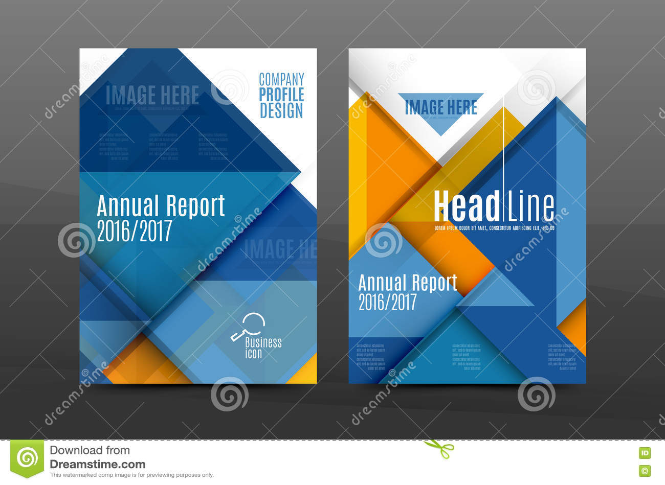 squares and triangles annual report cover template stock vector squares and triangles annual report cover template royalty stock photography