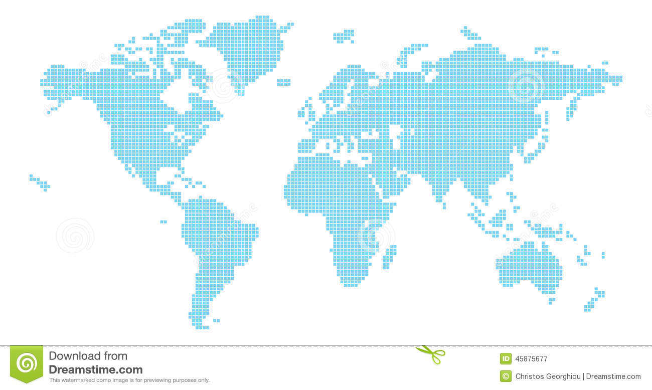 Squares world map stock vector illustration of pixel 45875677 download comp gumiabroncs Images