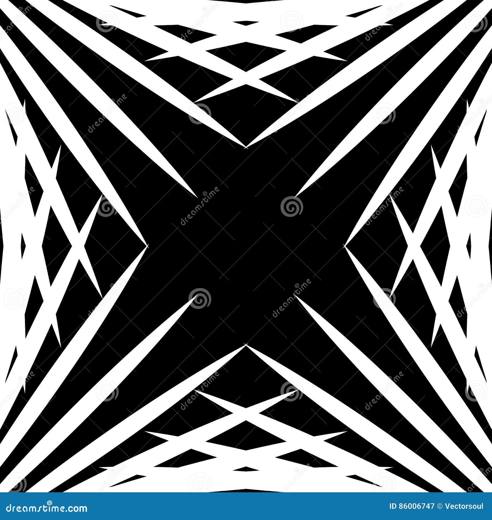 Squarish геометрический график сделанный остроконечных линий Нервное геометрическое