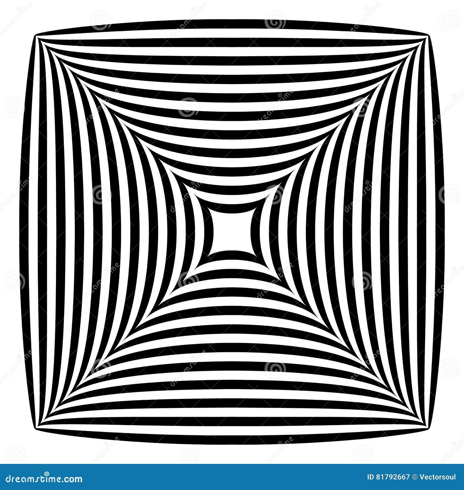 Squarish geometrisk abstrakt form