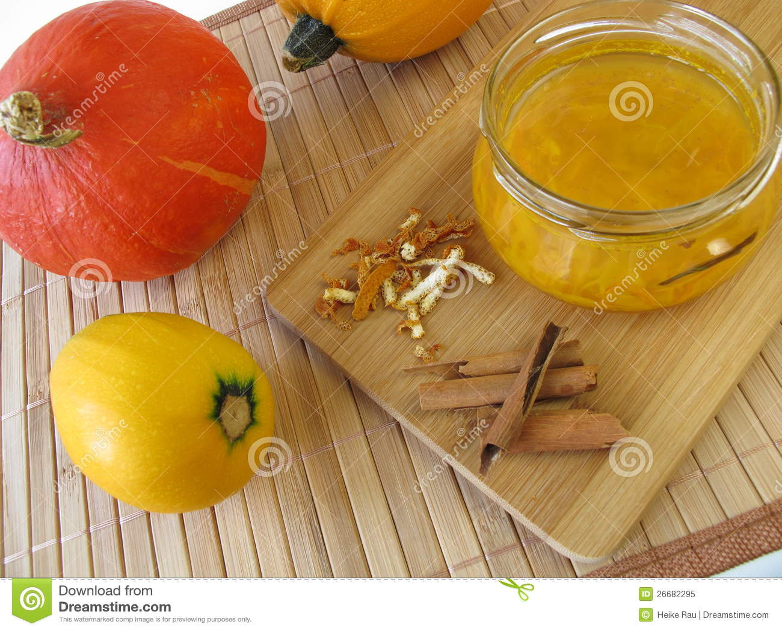 Squash Jam With Cinnamon And Orange Peel Royalty Free Stock Photo ...