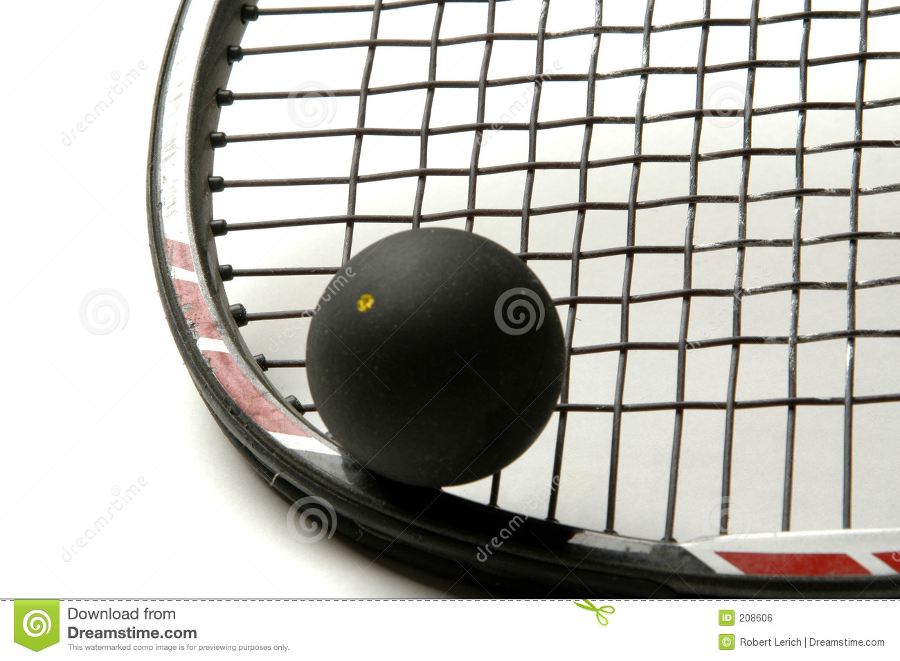Squash Racquet With Squash Ball Royalty Free Stock Image