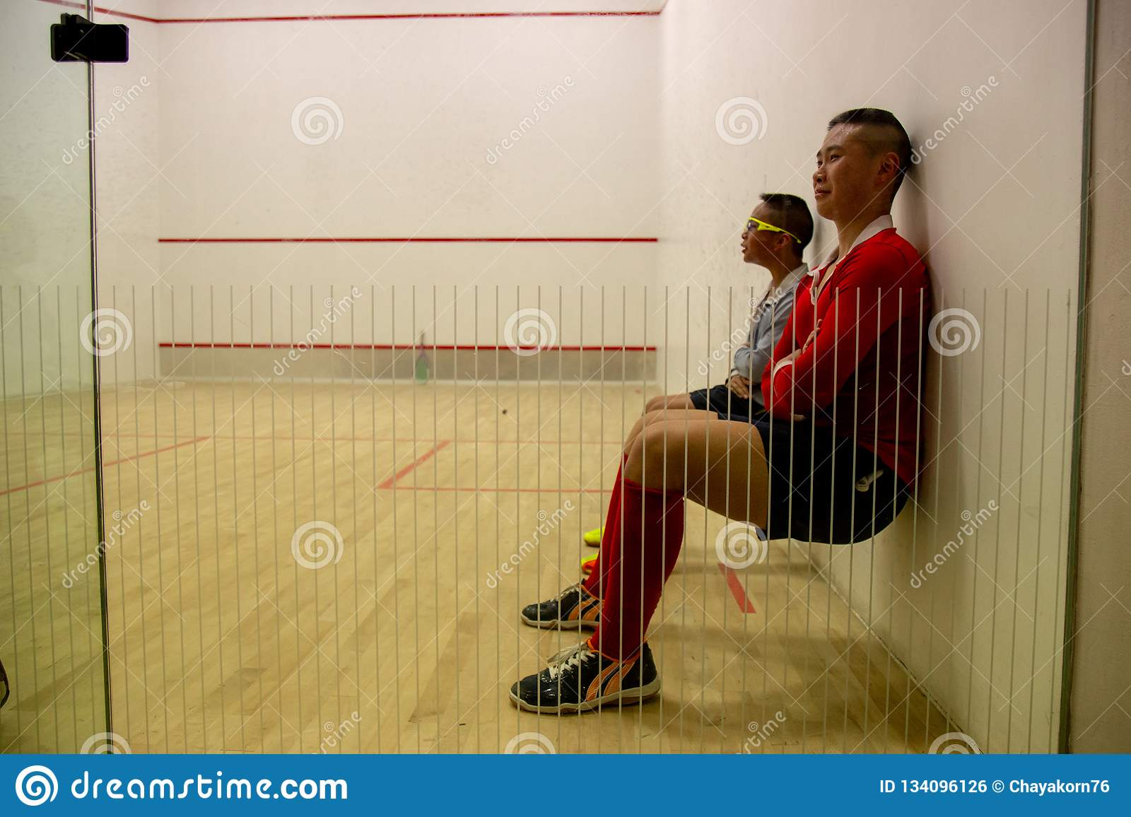 Squash Room with training player