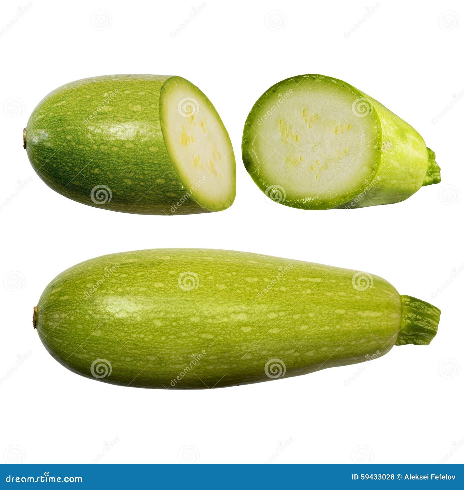 squash vegetable marrow isolated on white background