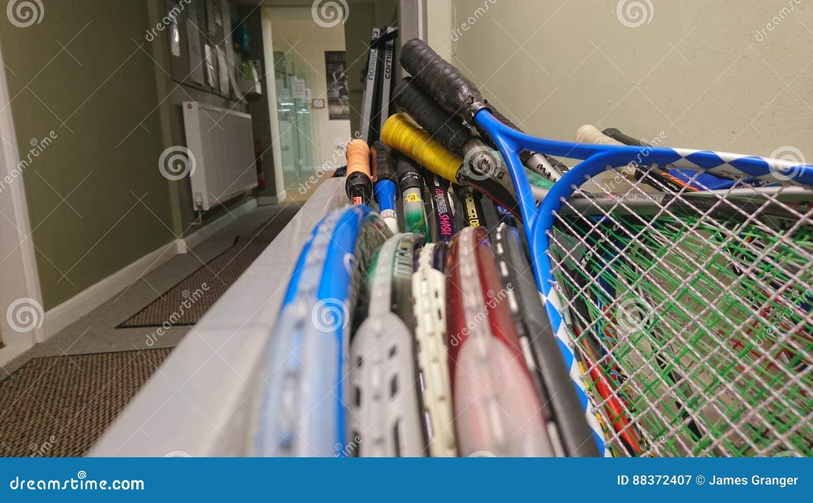 Squashklubbaask av racket