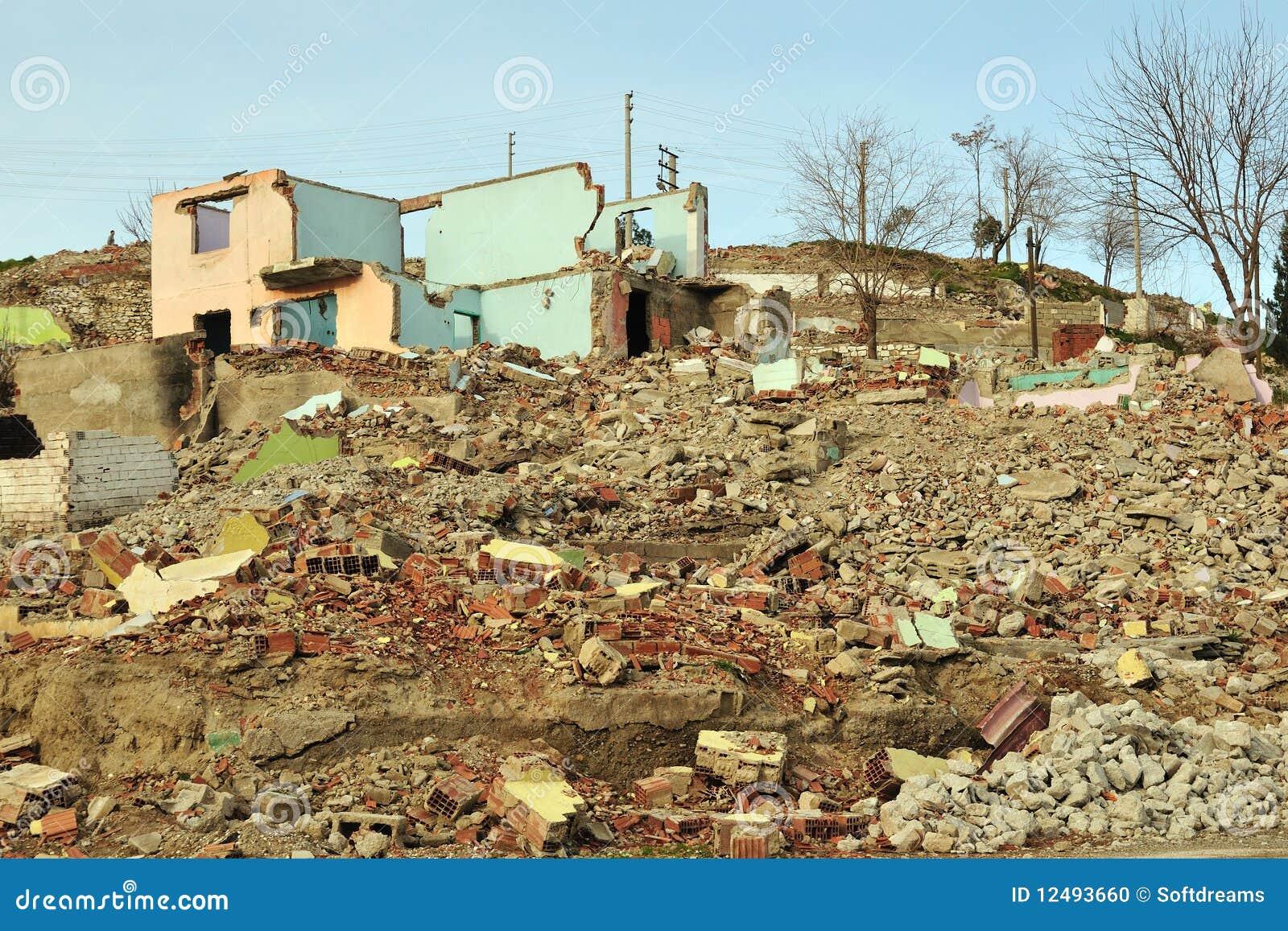squatter debris