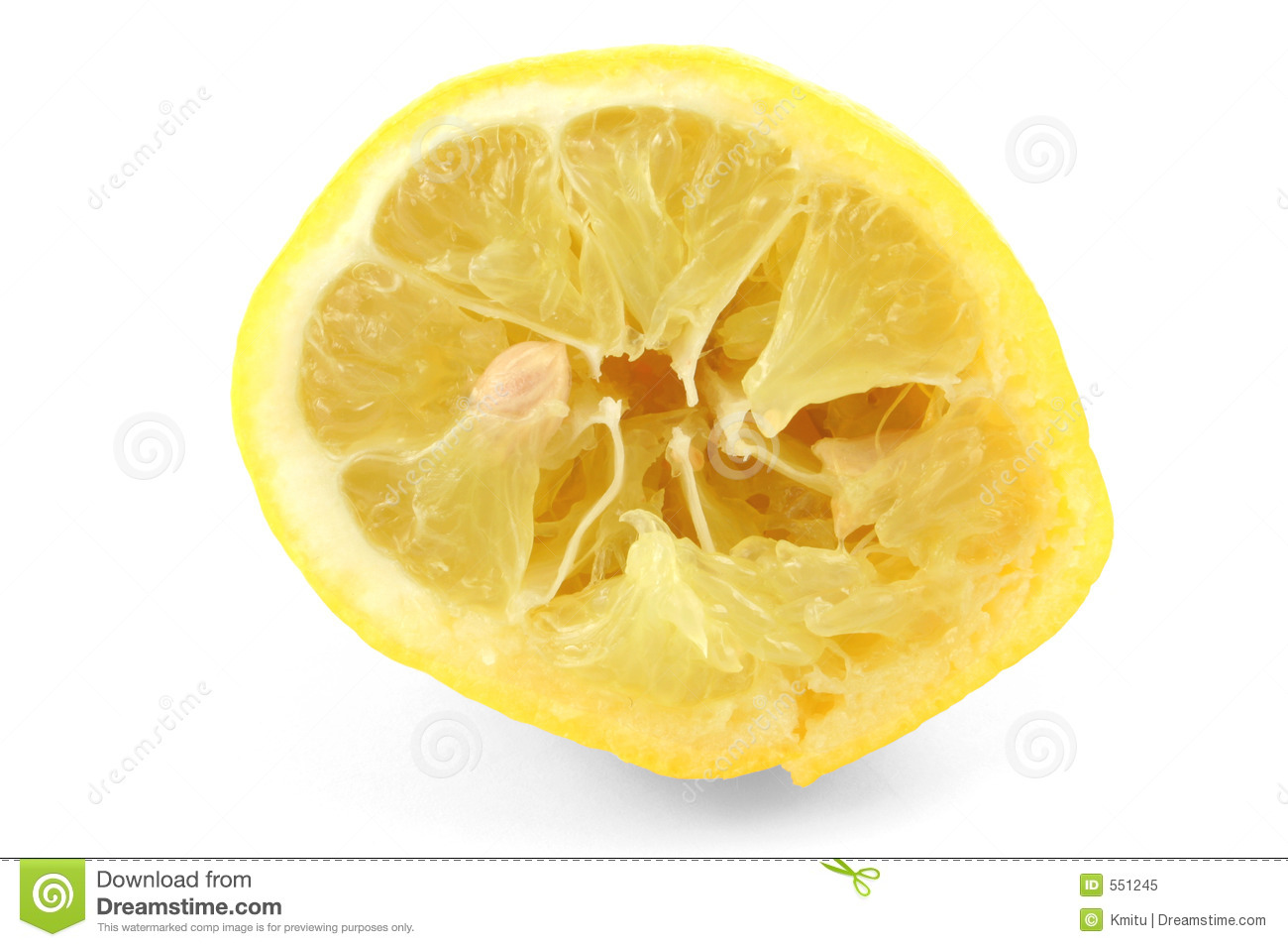 Squeezed Out Lemon On White Royalty Free Stock Photo - Image: 551245
