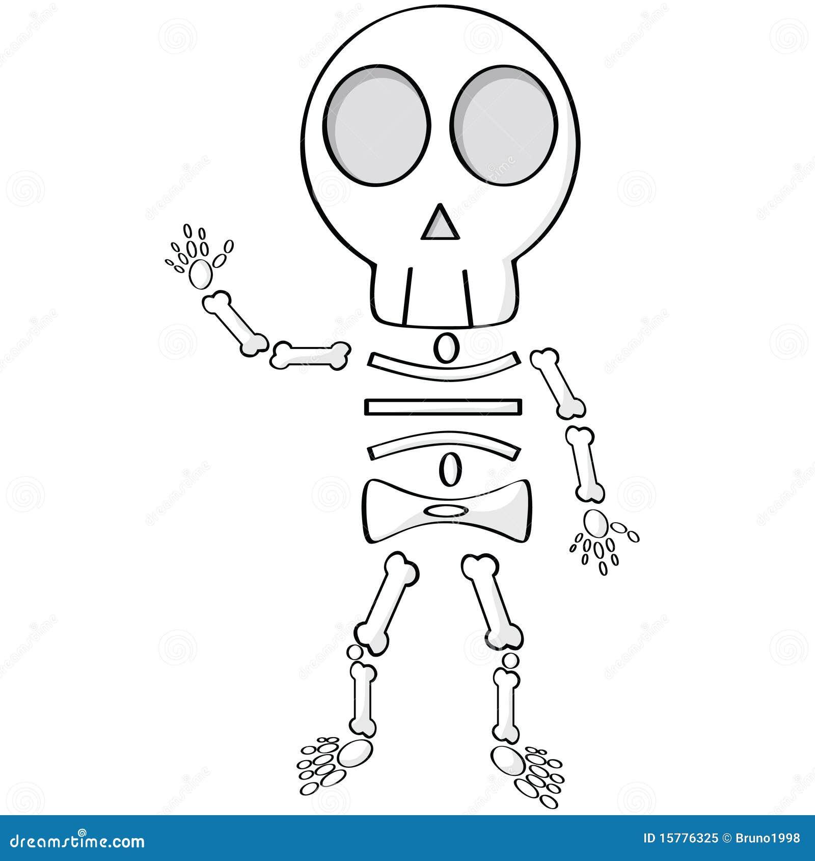 Squelette de dessin anim photo libre de droits image - Dessin de squelette ...