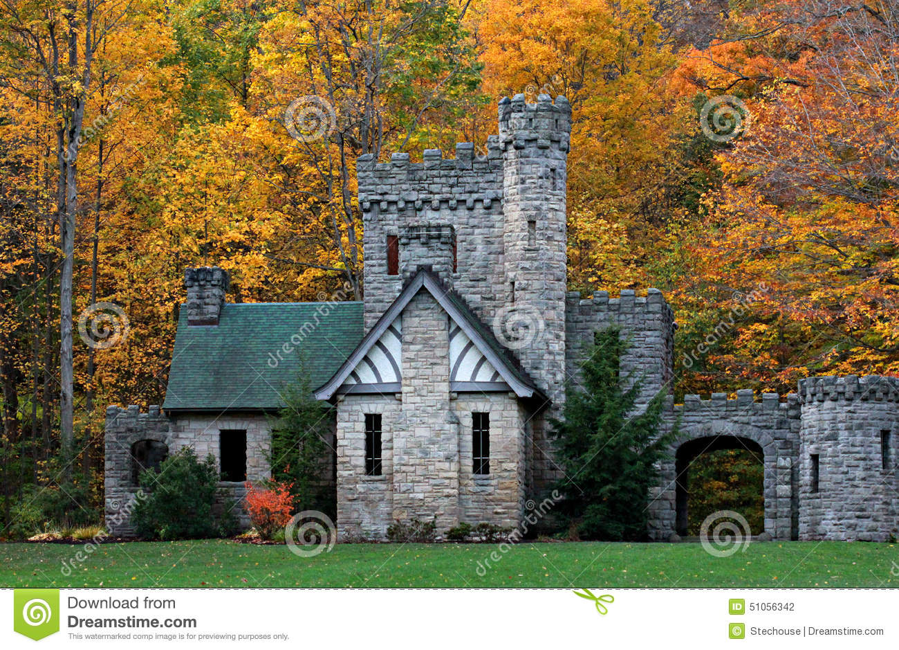 squire u0026 39 s castle  cleveland metroparks  chagrin reservation  ohio stock photo