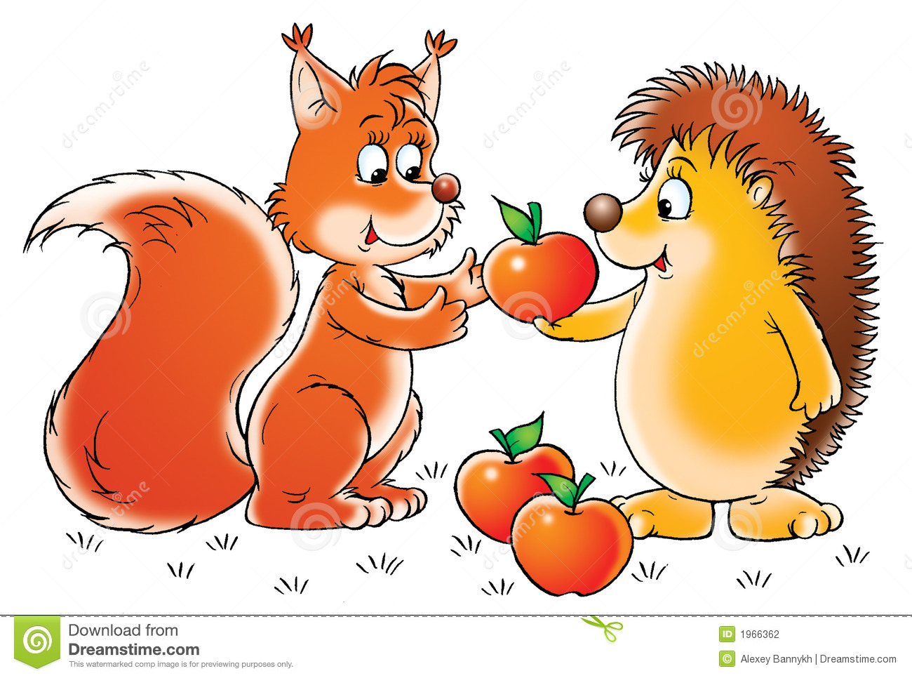 Squirrel And Hedgehog Stock Photography Image 1966362