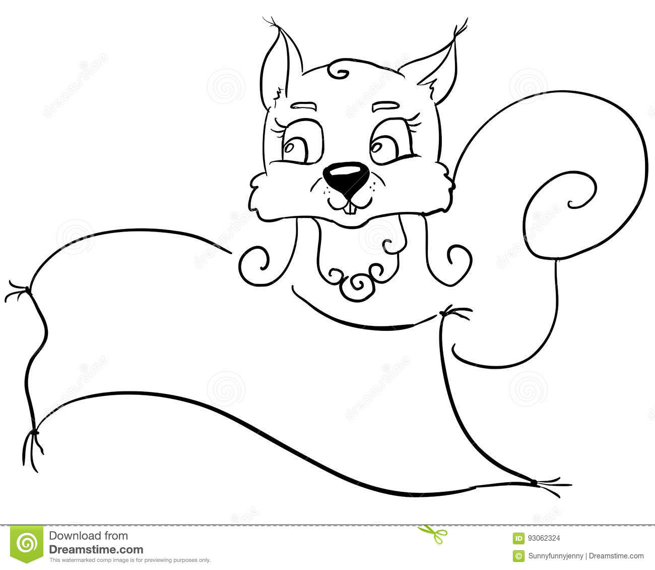 Squirrel line2 stock vector  Illustration of children - 93062324