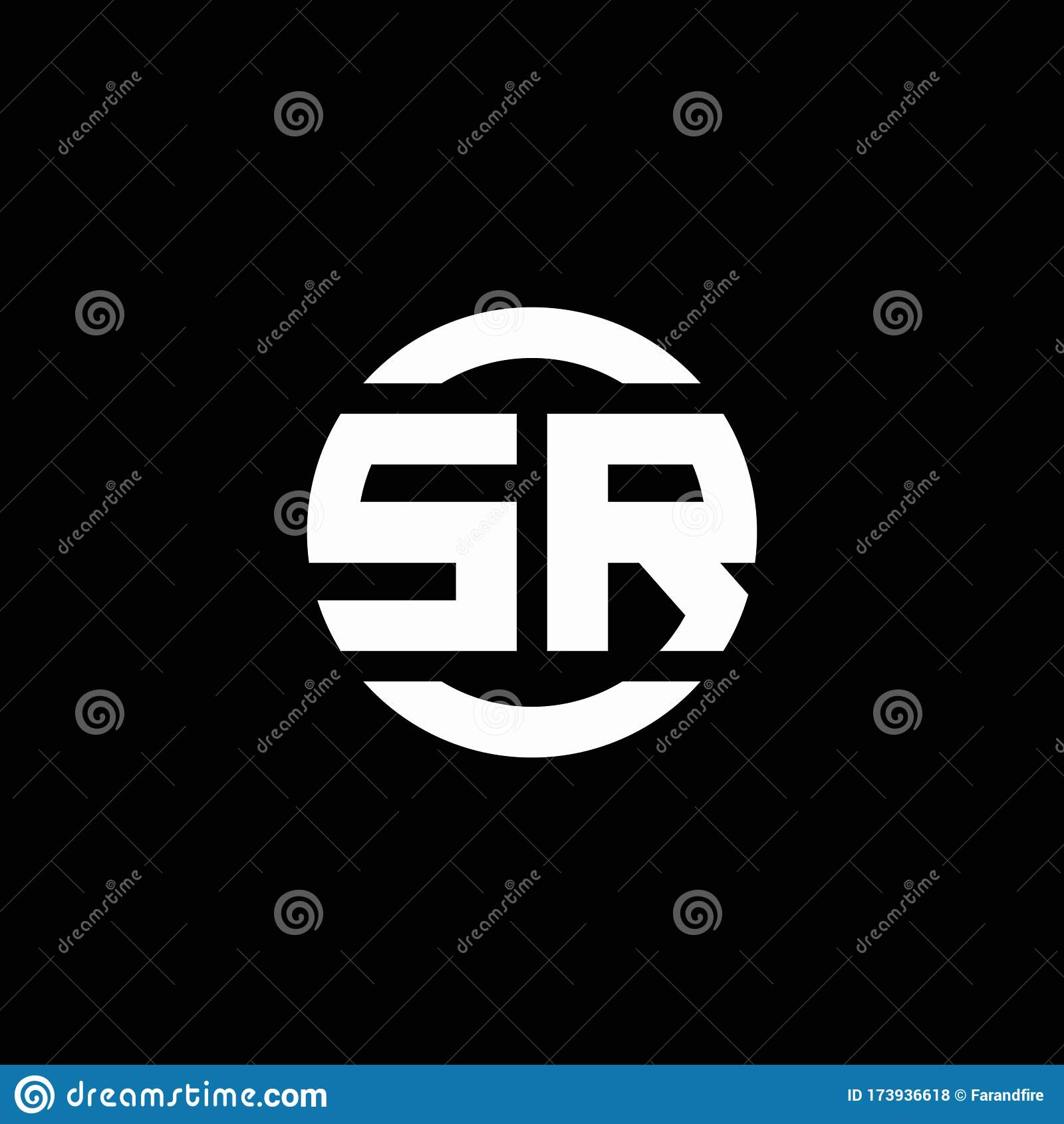 Sr Logo Monogram Isolated On Circle Element Design Template Stock Vector Illustration Of Corporate Logos 173936618
