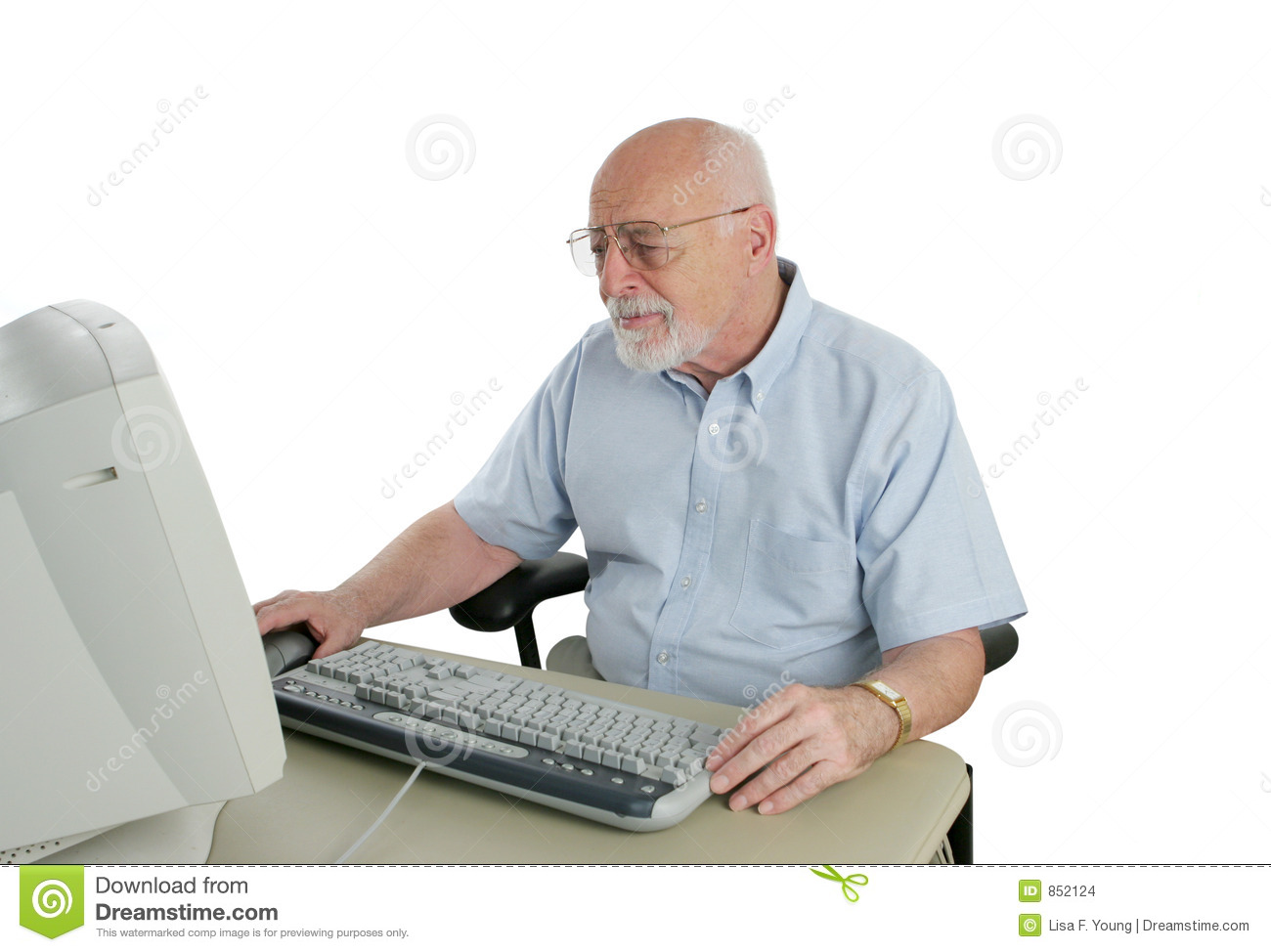 sr man confused by computer stock photo image of citizen person
