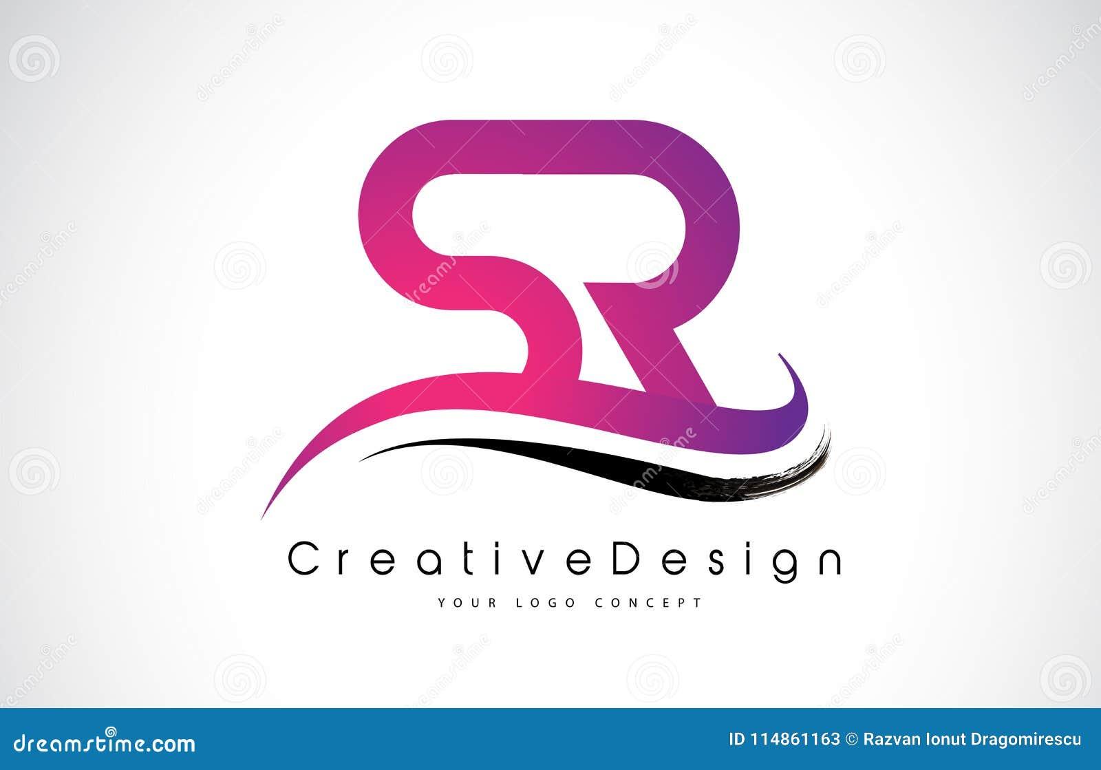 SR S R Letter Logo Design. Creative Icon Modern Letters Vector L ...