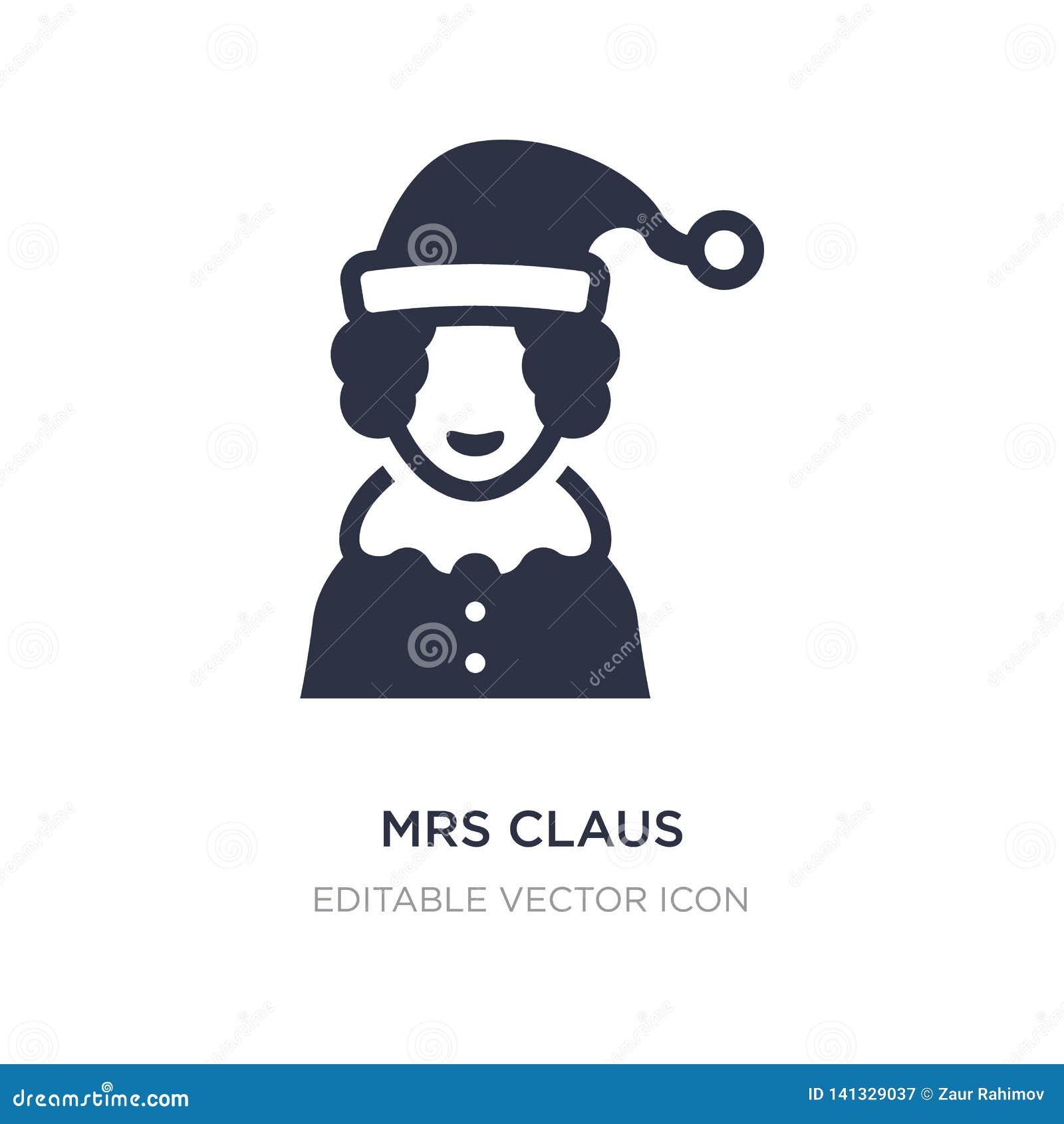 Sra. claus ícone no fundo branco Ilustração simples do elemento do conceito do Natal