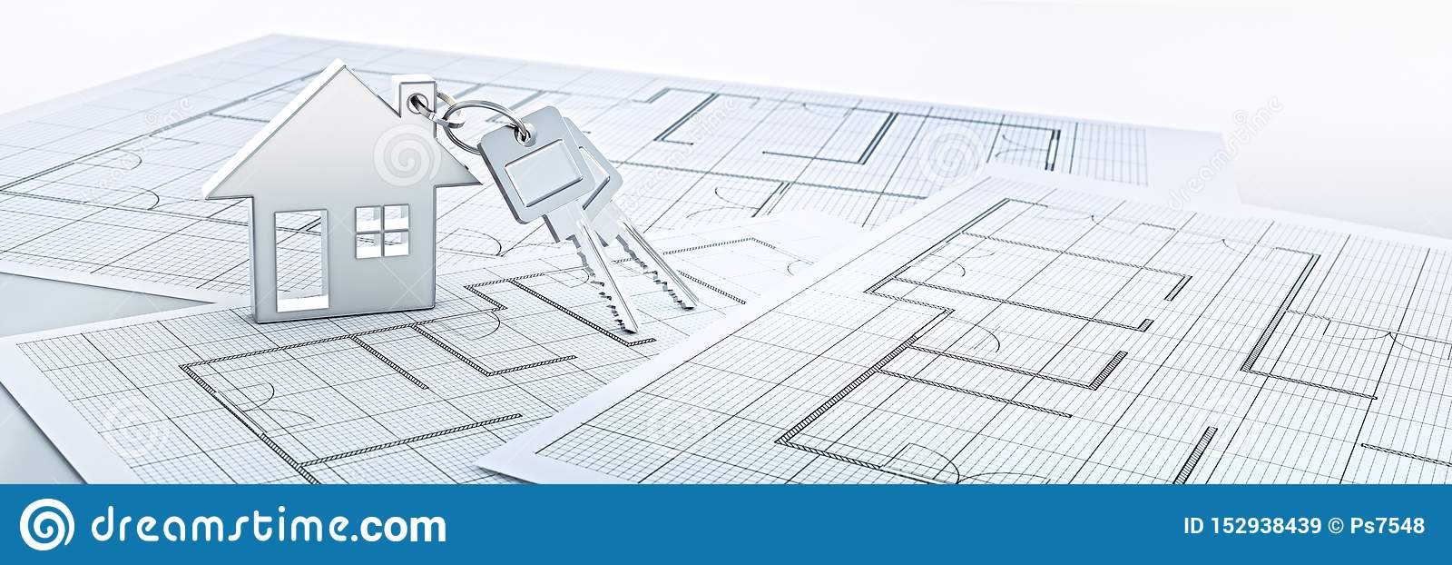 Srebny domowy kluczowy łańcuch z srebnymi kluczami
