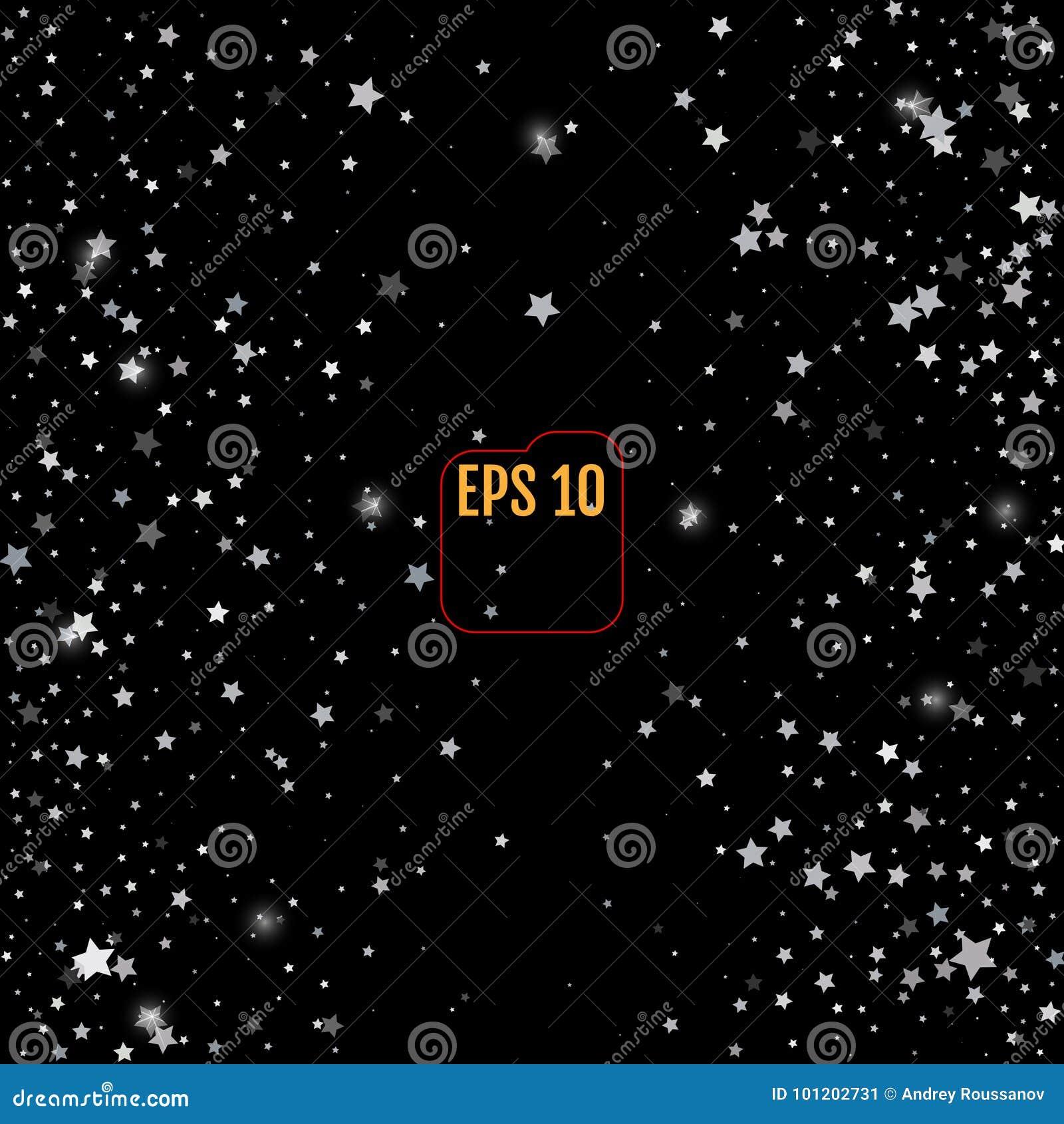 Srebro gwiazdy na czarnym tle E