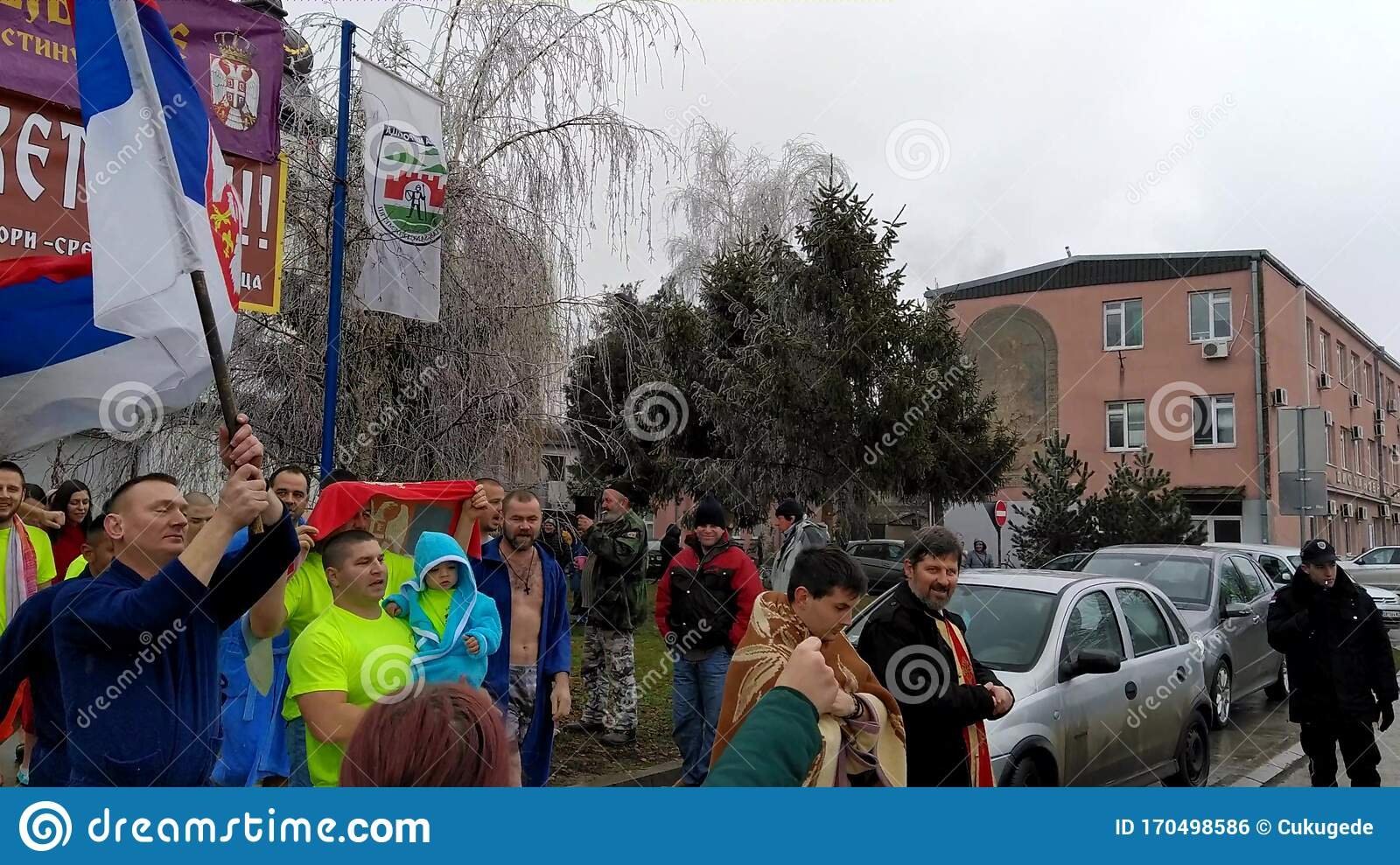 Religious Bathing On The River On The Day Of The Epiphany
