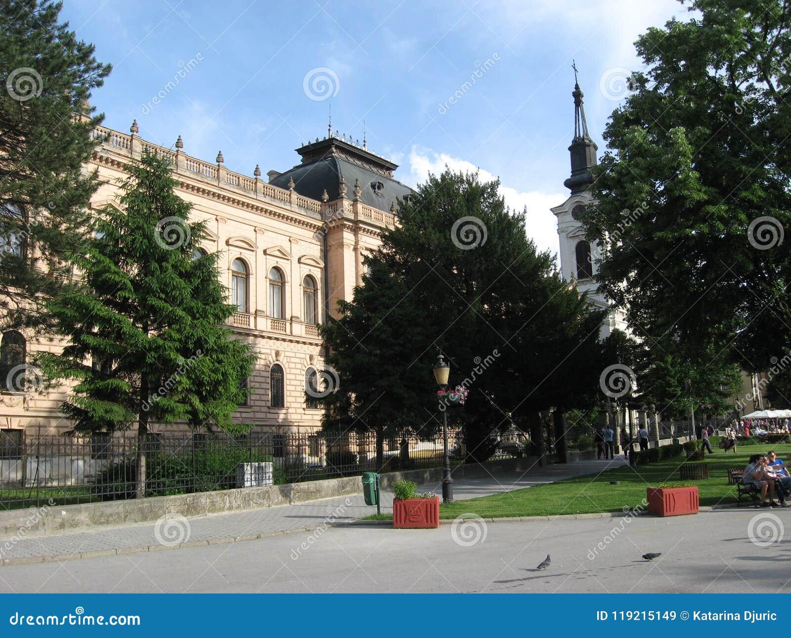 Sremski Karlovci , Stary miasteczko, główny plac, Vojvodina, Serbia
