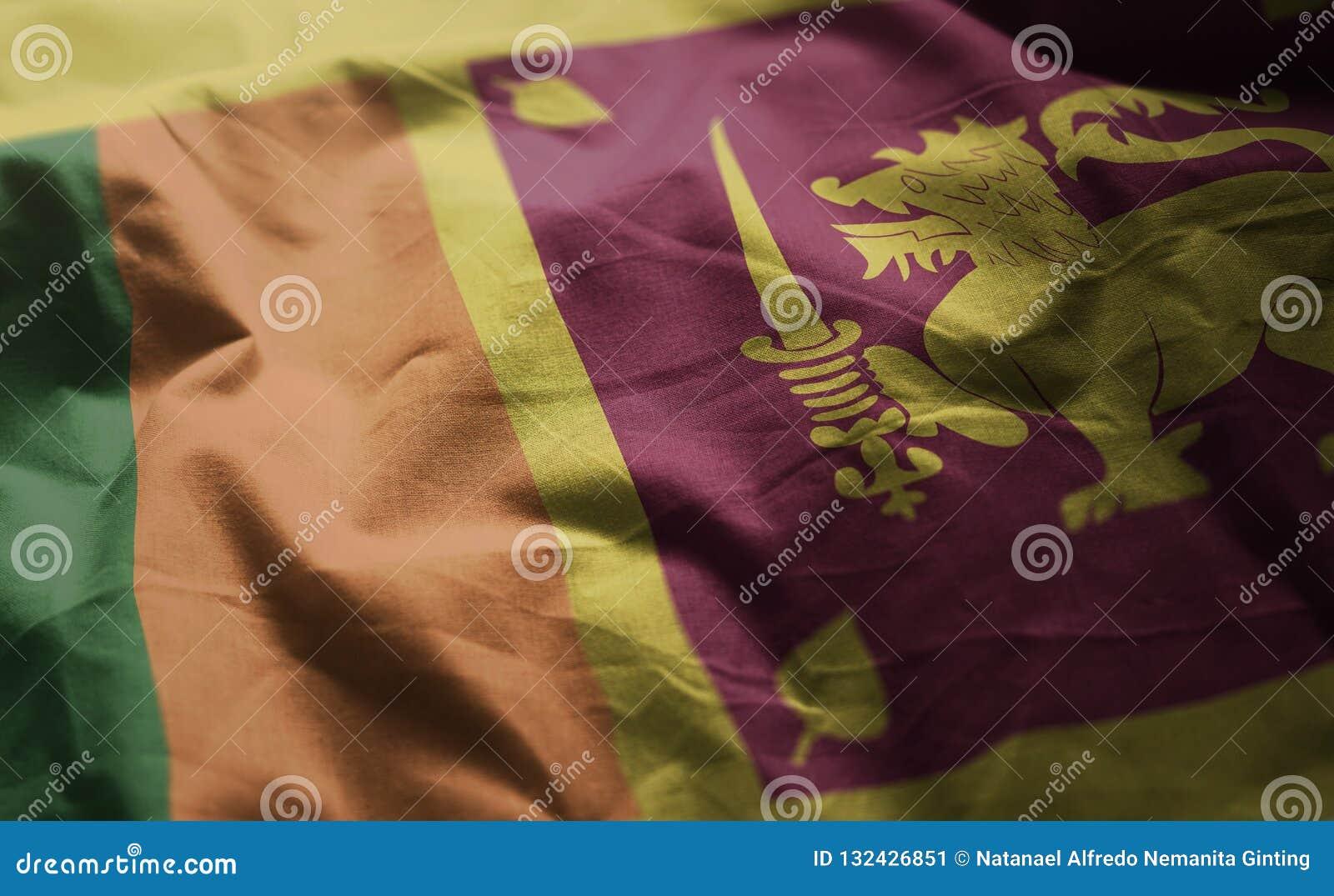 0616d93dde8 Sri Lanka Flag Rumpled Close Up Stock Image - Image of authentic ...