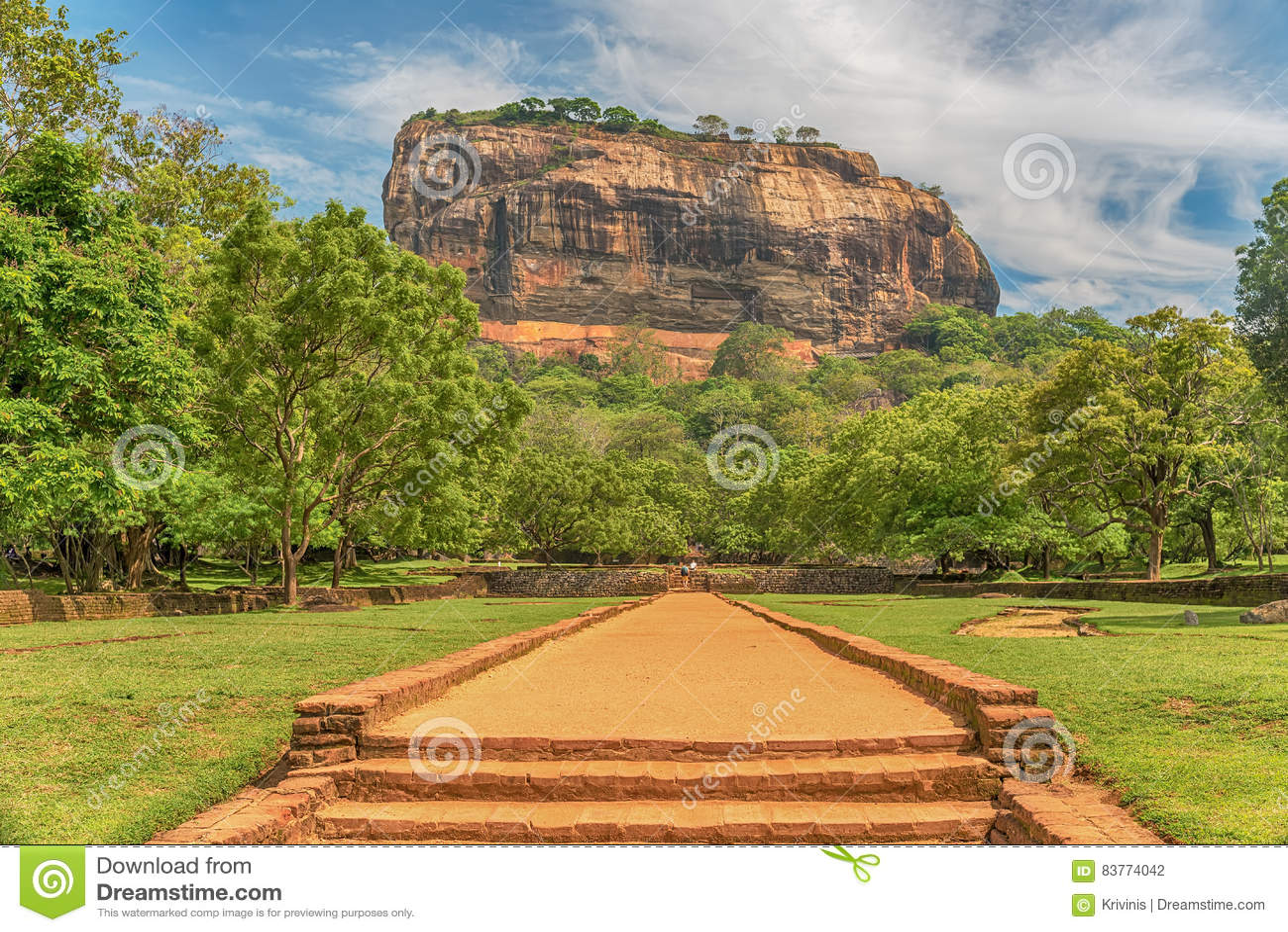 Sri Lanka: forntida Lion Rock fästning i Sigiriya